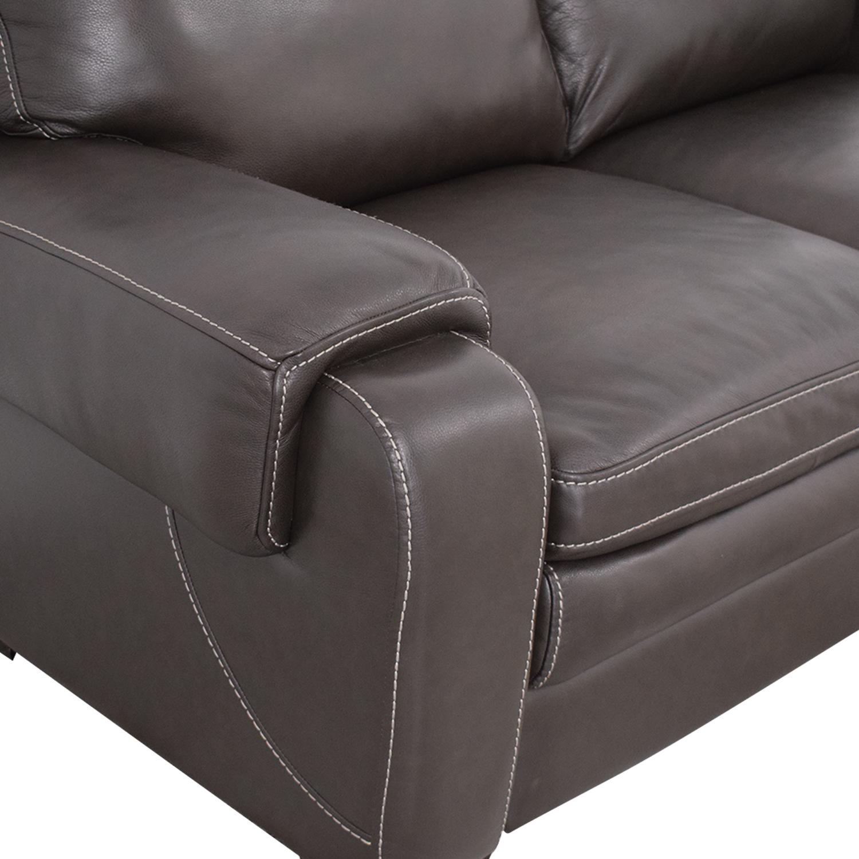 Raymour & Flanigan Raymour & Flanigan Leather Loveseat price