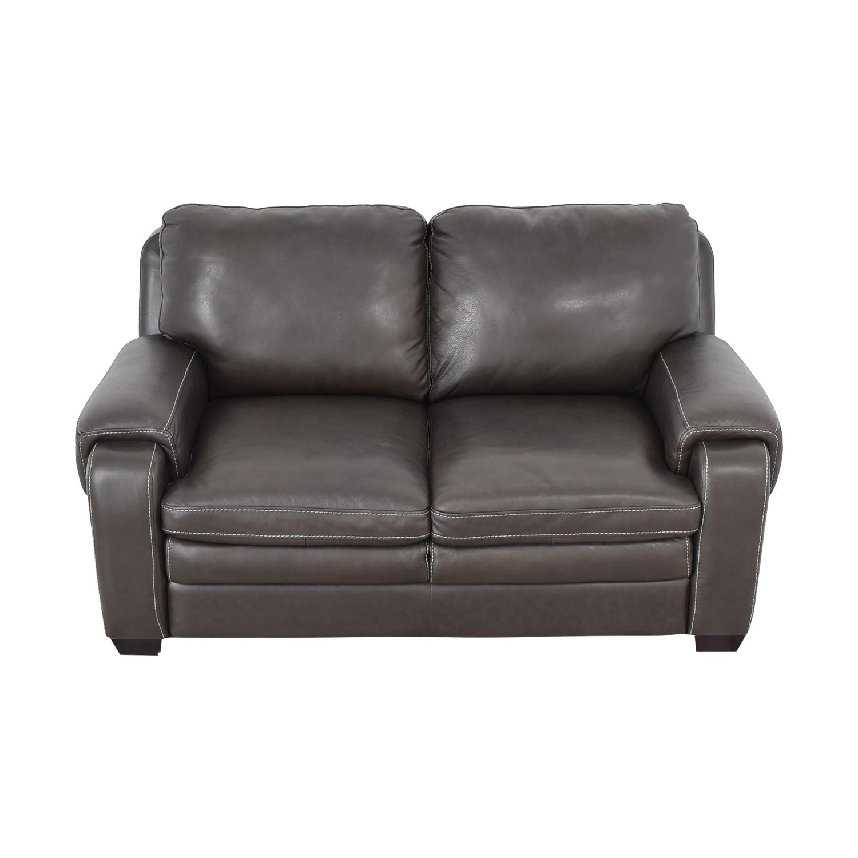 Raymour & Flanigan Leather Loveseat / Sofas