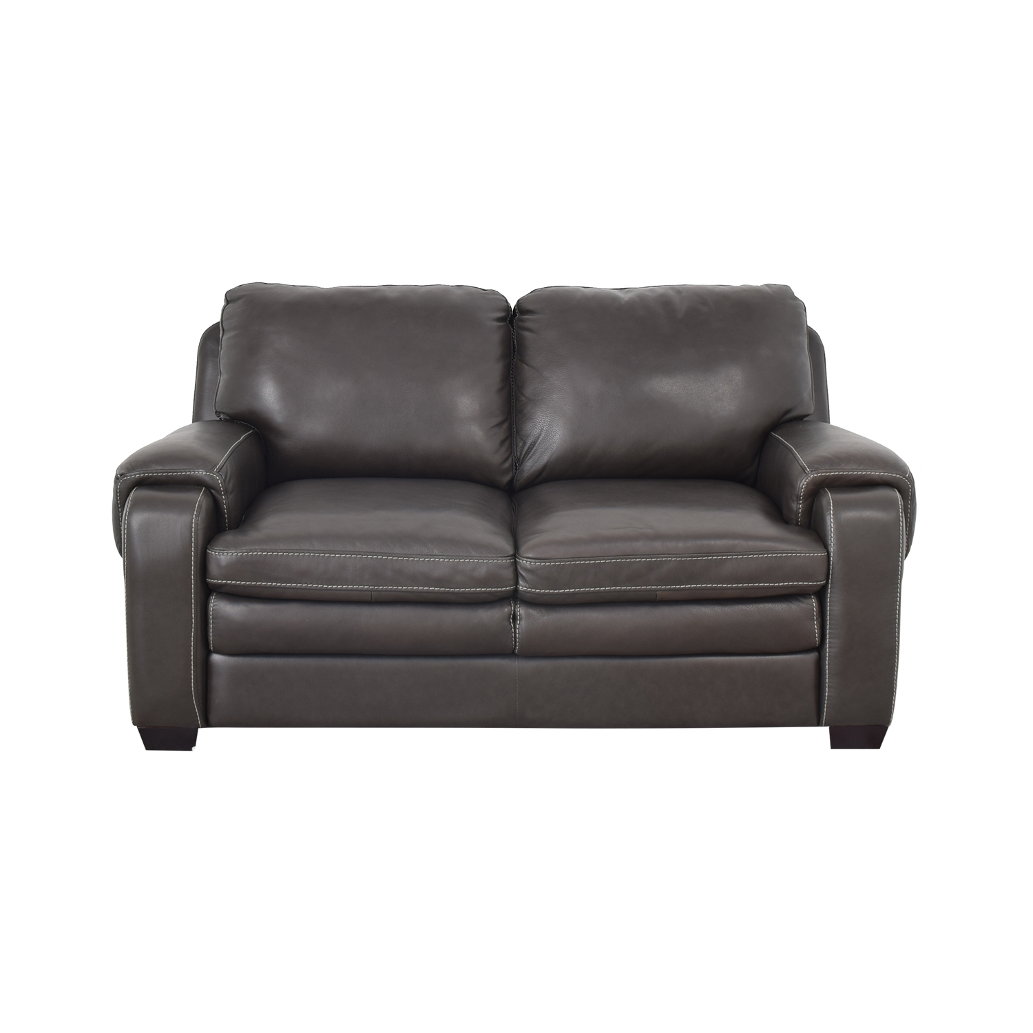 shop Raymour & Flanigan Leather Loveseat Raymour & Flanigan Loveseats