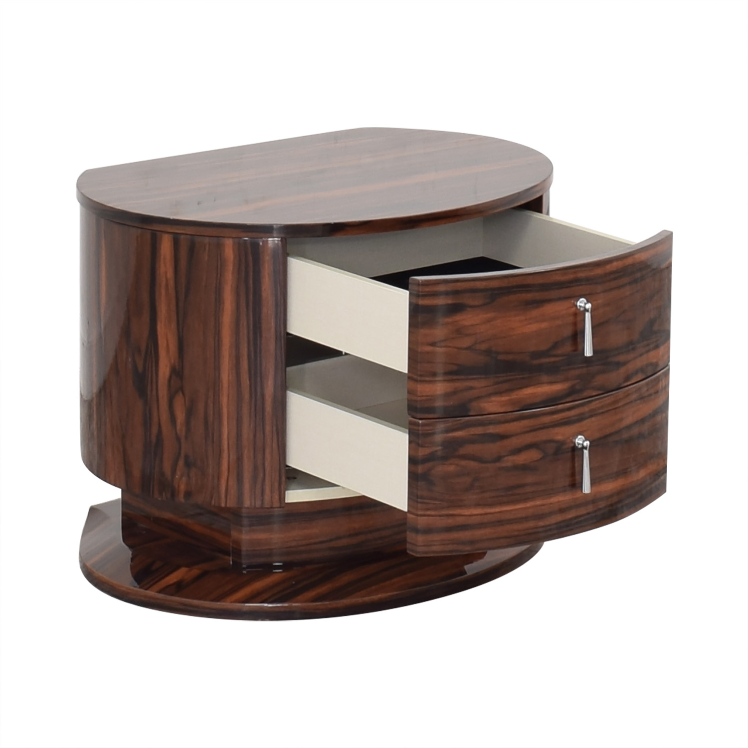 Two Drawer Night Stand brown