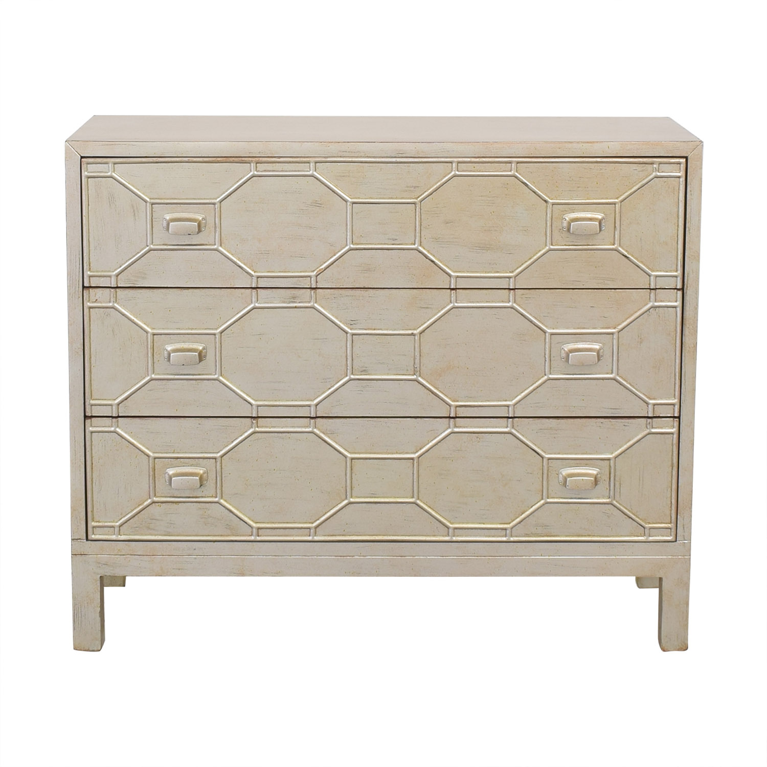 Coast to Coast Accents Coast to Coast Three Drawer Geometric Dresser discount