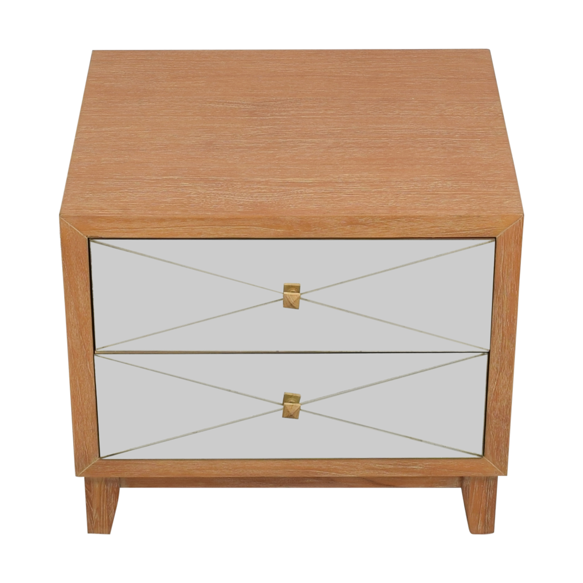 Brownstone Furniture Brownstone Furniture Mirrored Nightstand End Tables