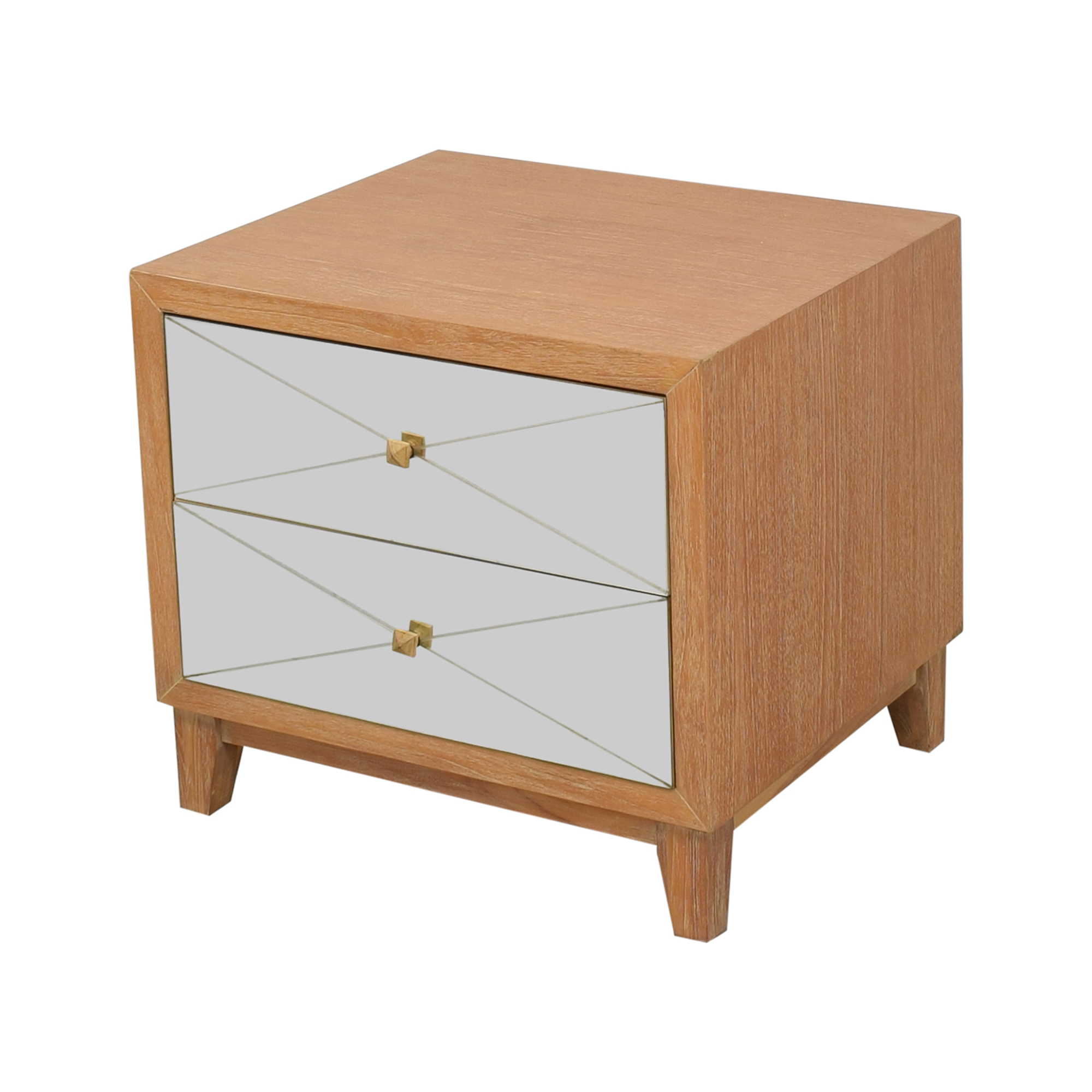 Brownstone Furniture Mirrored Nightstand / Tables