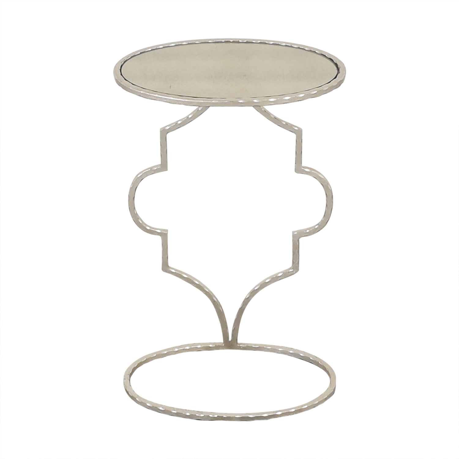 Round Decorative Side Table silver