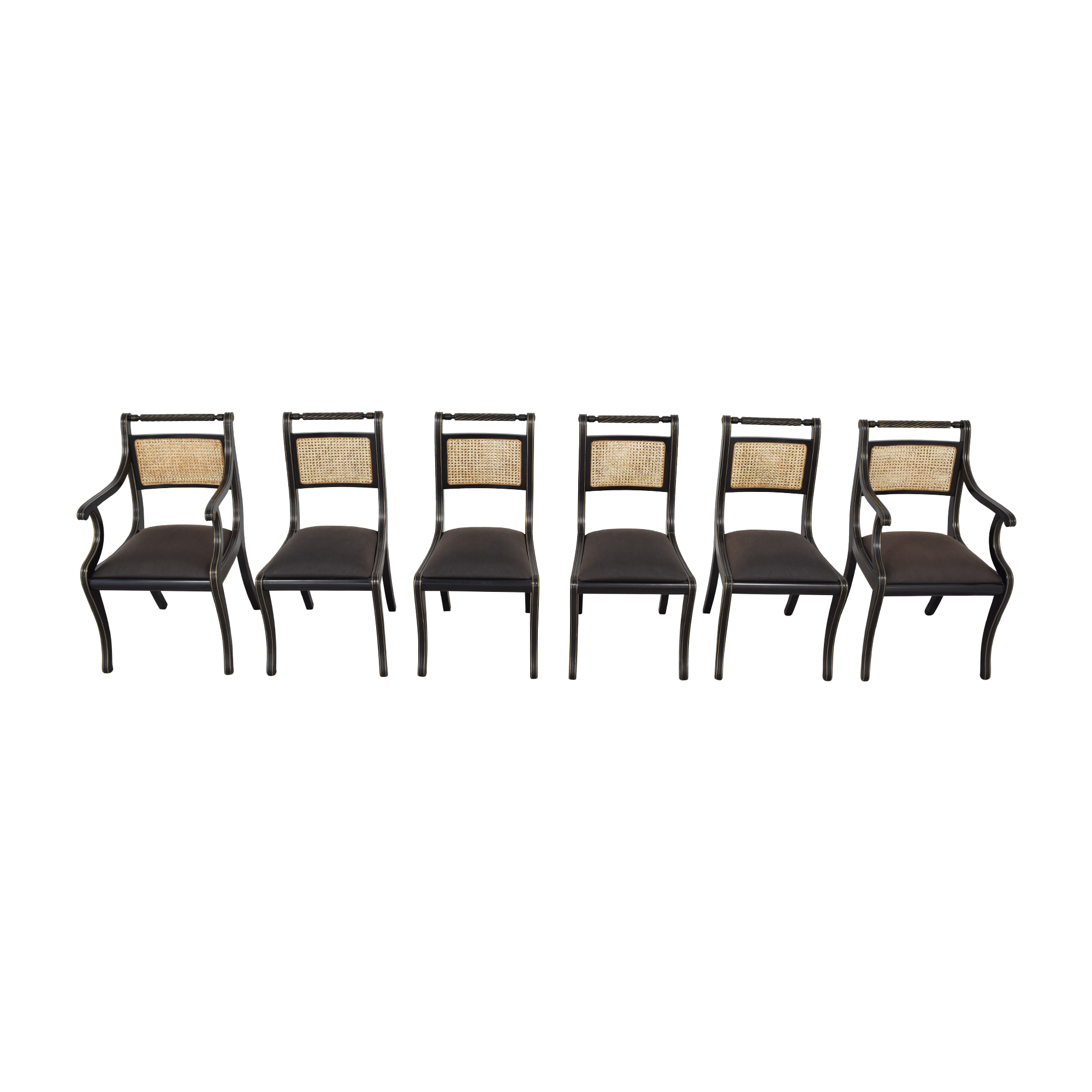buy Bloomingdale's Italian Cane Back Dining Chairs Bloomingdale's Dining Chairs