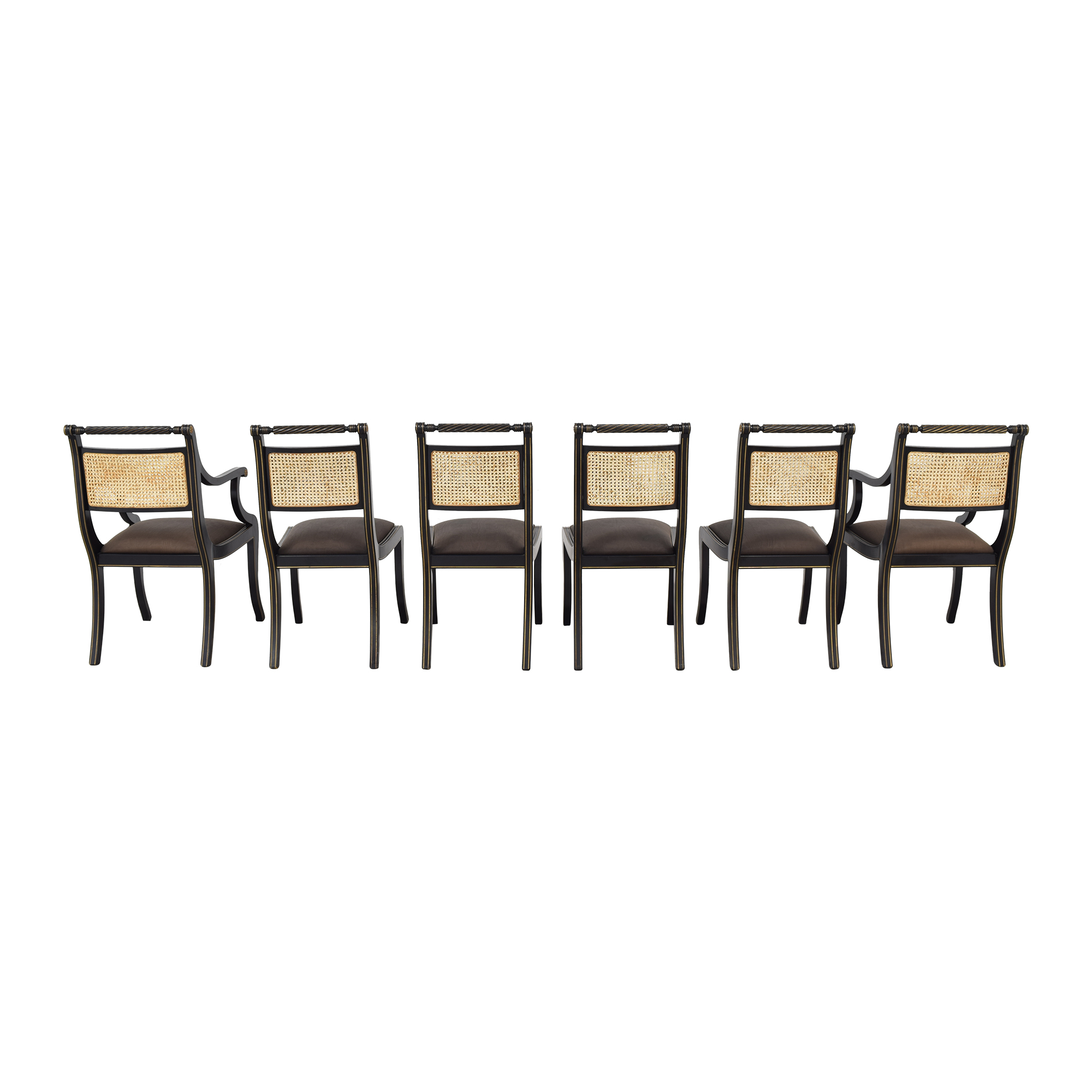 Bloomingdale's Italian Cane Back Dining Chairs / Dining Chairs