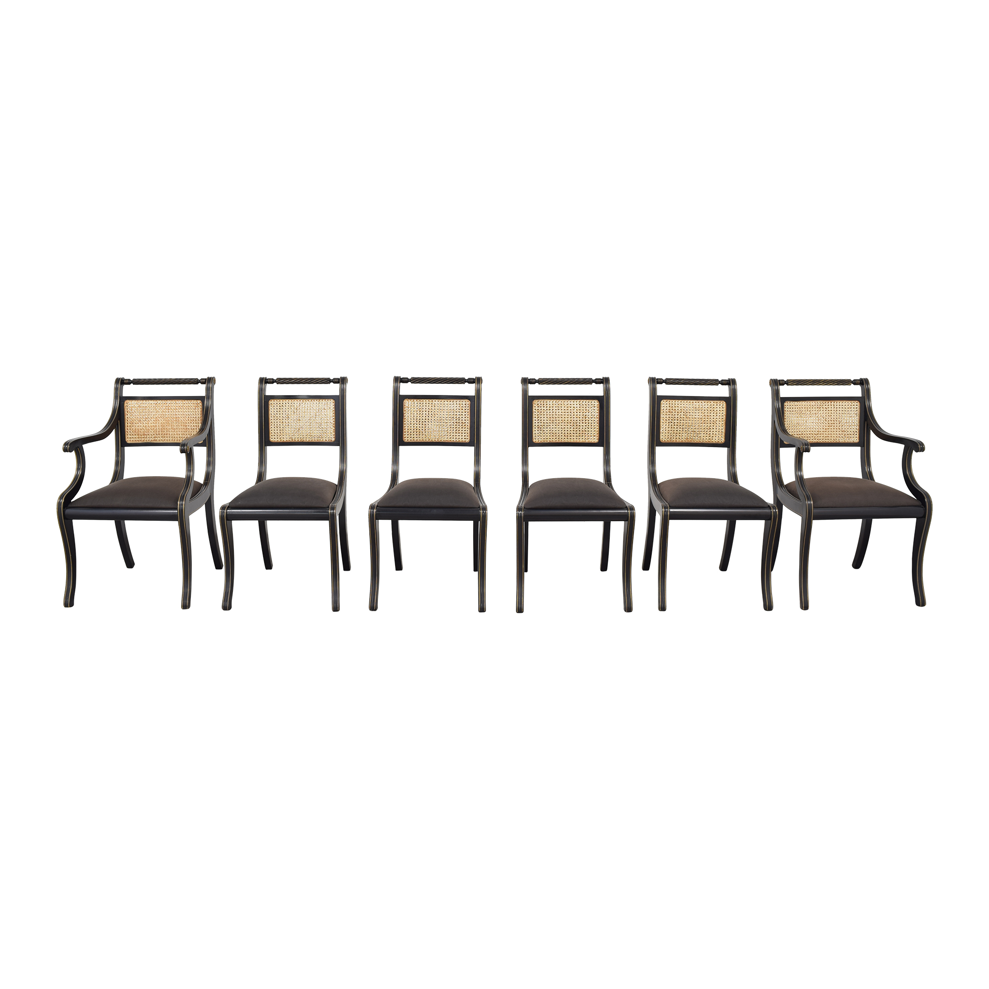shop Bloomingdale's Italian Cane Back Dining Chairs Bloomingdale's Dining Chairs