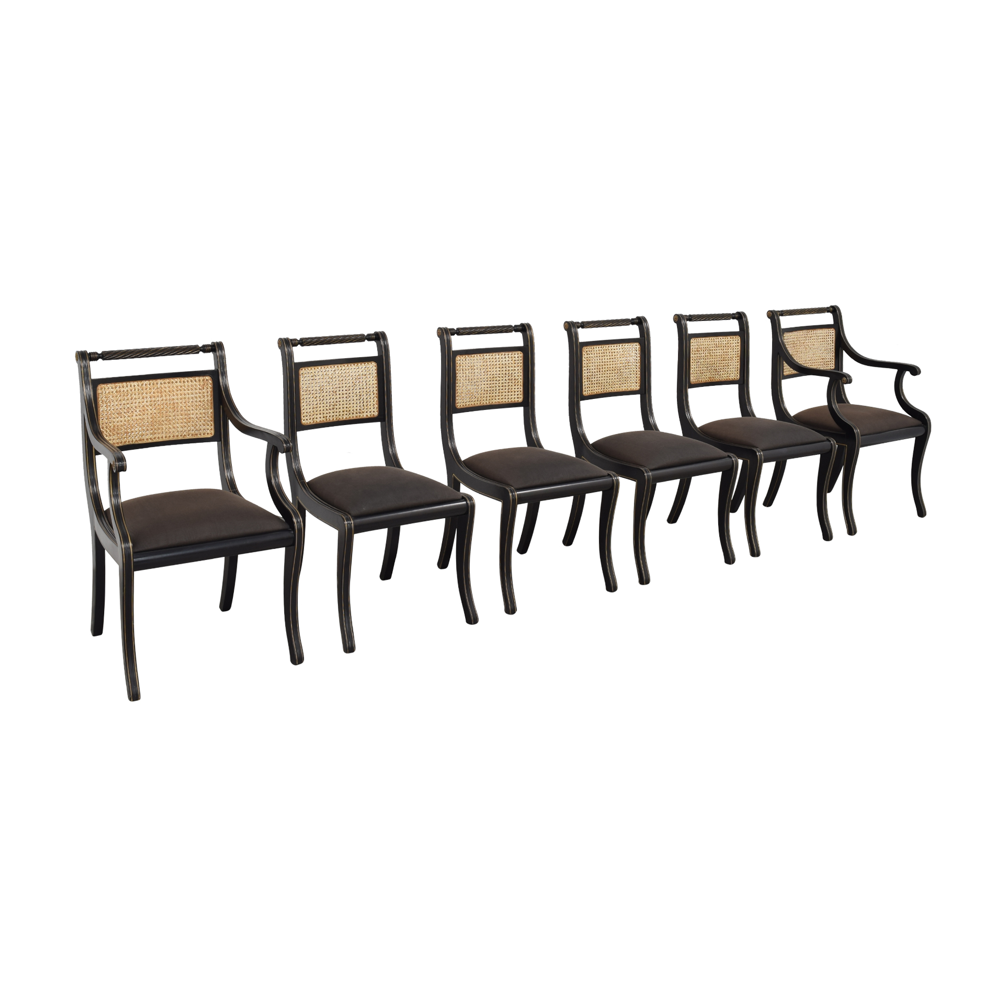 Bloomingdale's Bloomingdale's Italian Cane Back Dining Chairs used