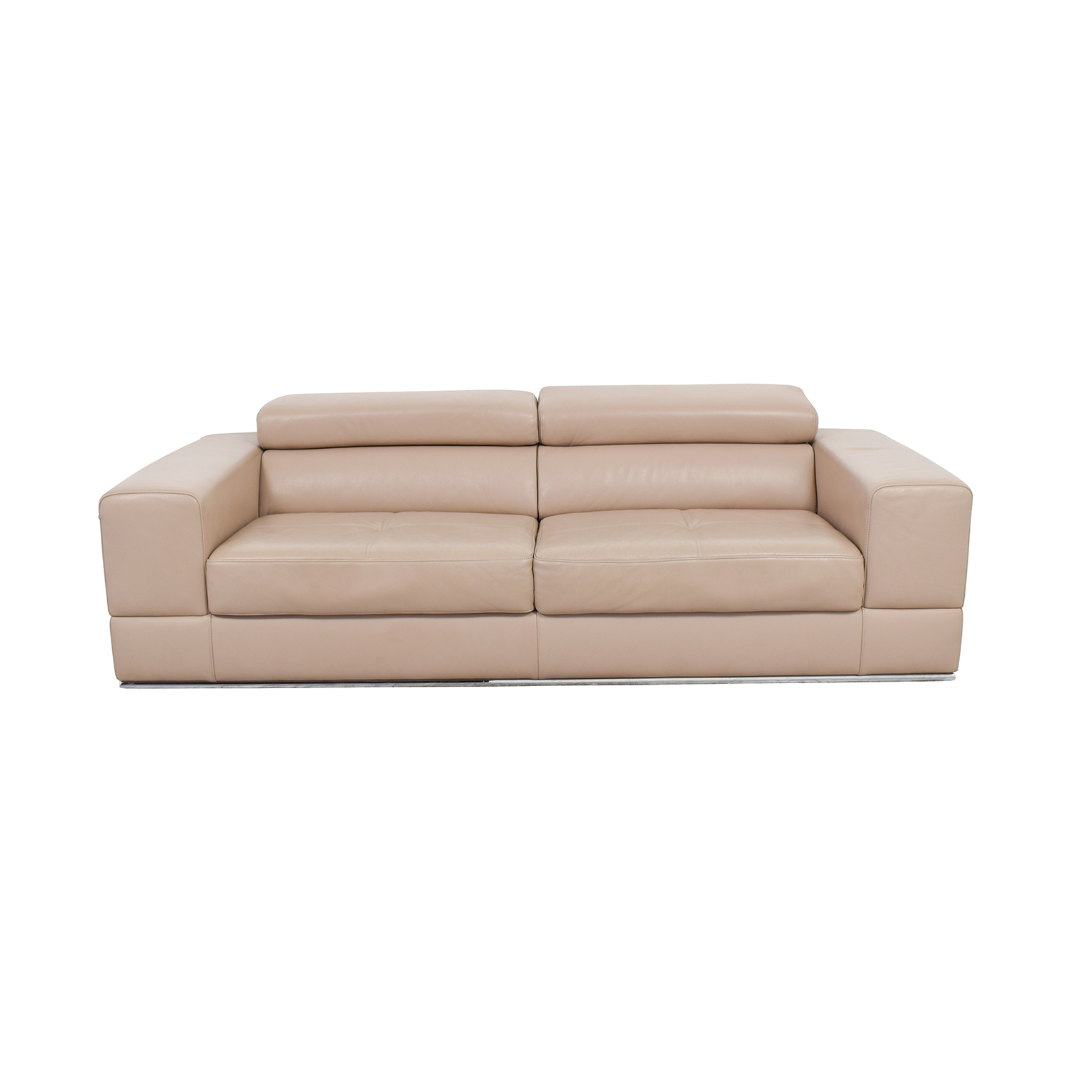 shop Lazzoni Beige Leather Sofa Lazzoni Sofas