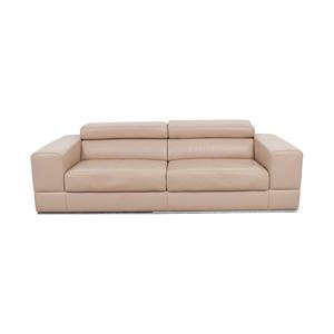 shop Lazzoni Beige Leather Sofa Lazzoni
