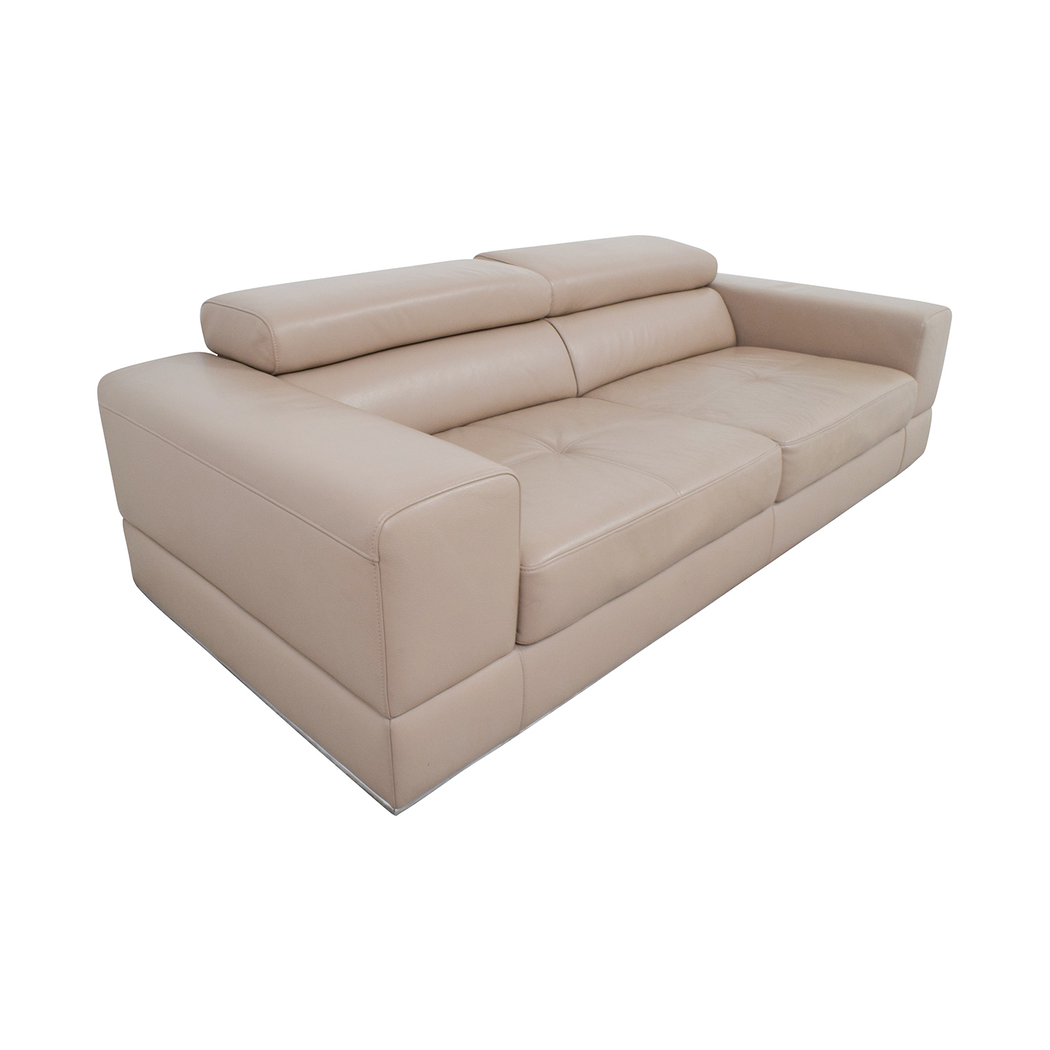 82 off lazzoni lazzoni beige leather sofa sofas for Cheap classic sofas