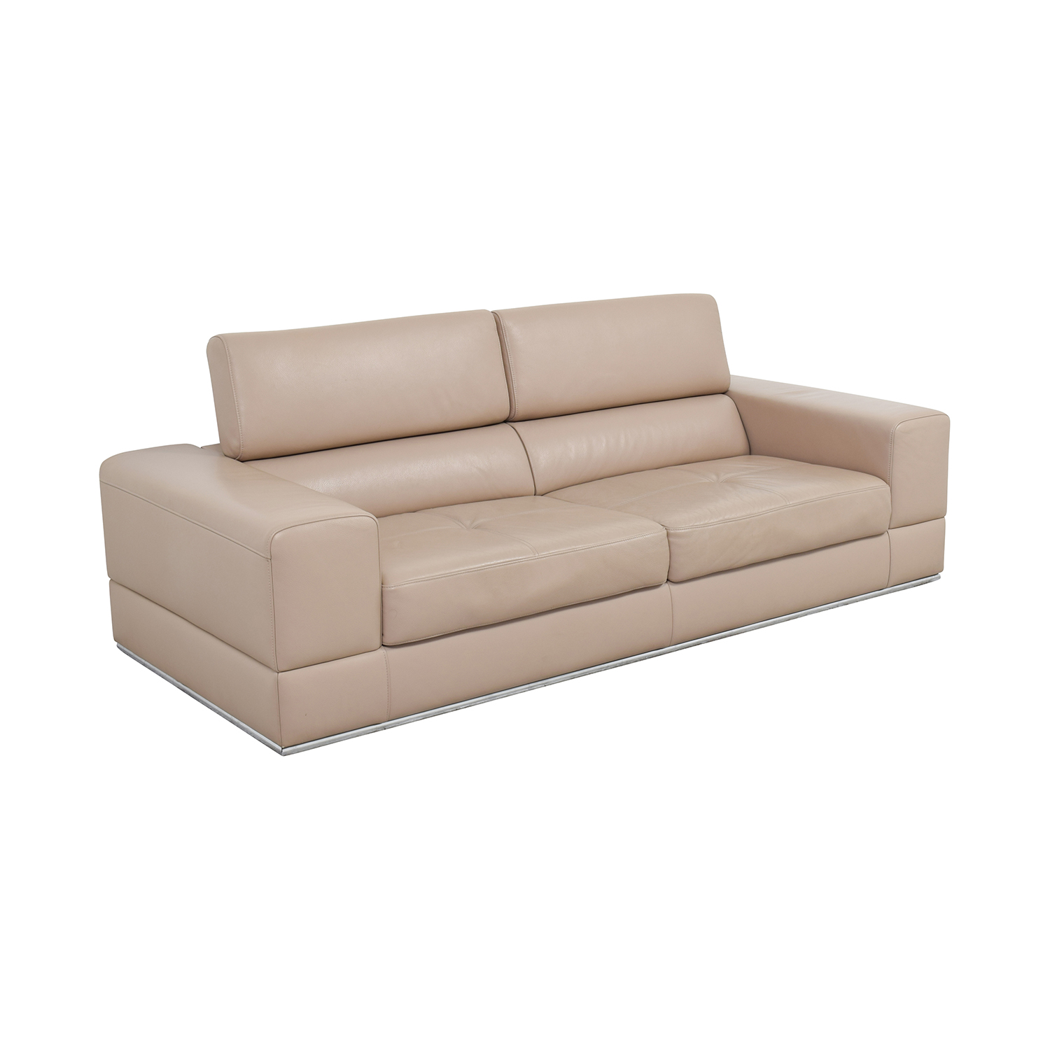 82 Off Lazzoni Lazzoni Beige Leather Sofa Sofas