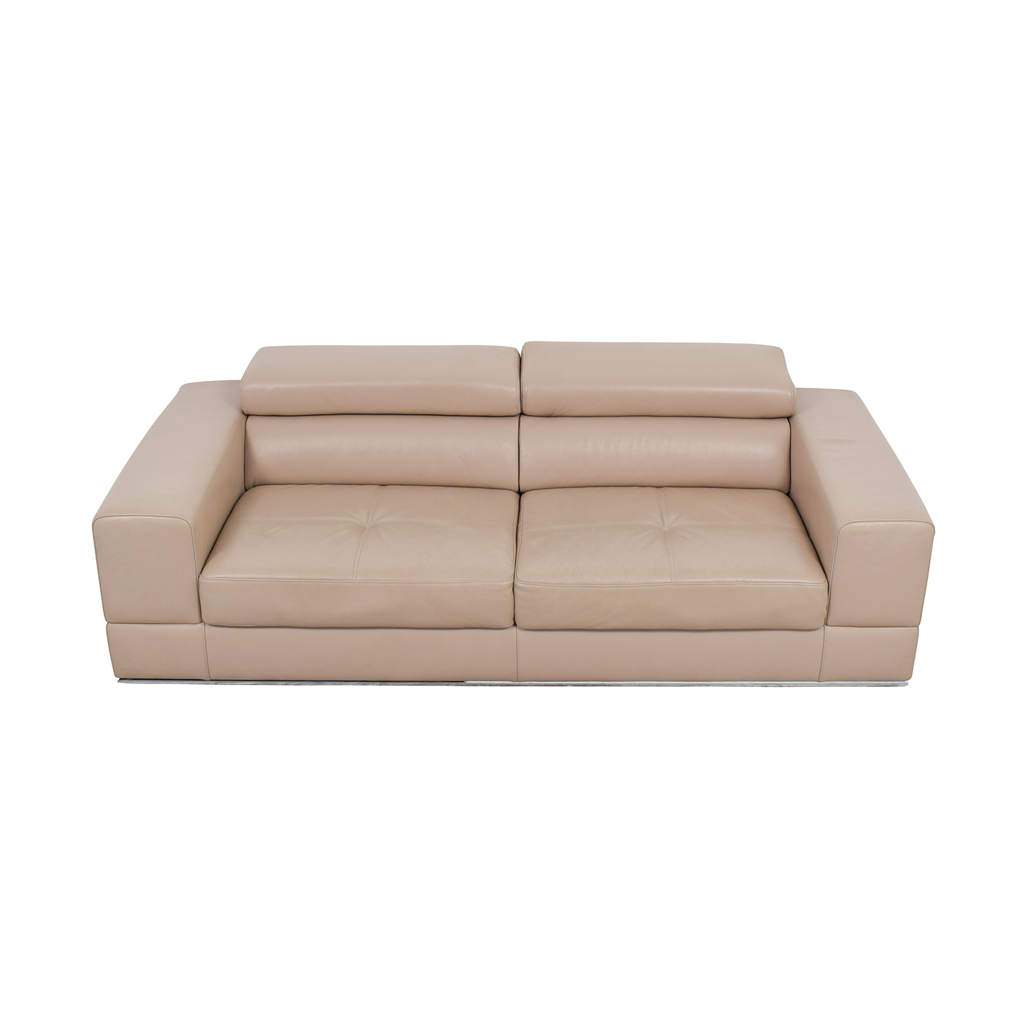 Shop Lazzoni Beige Leather Sofa Lazzoni