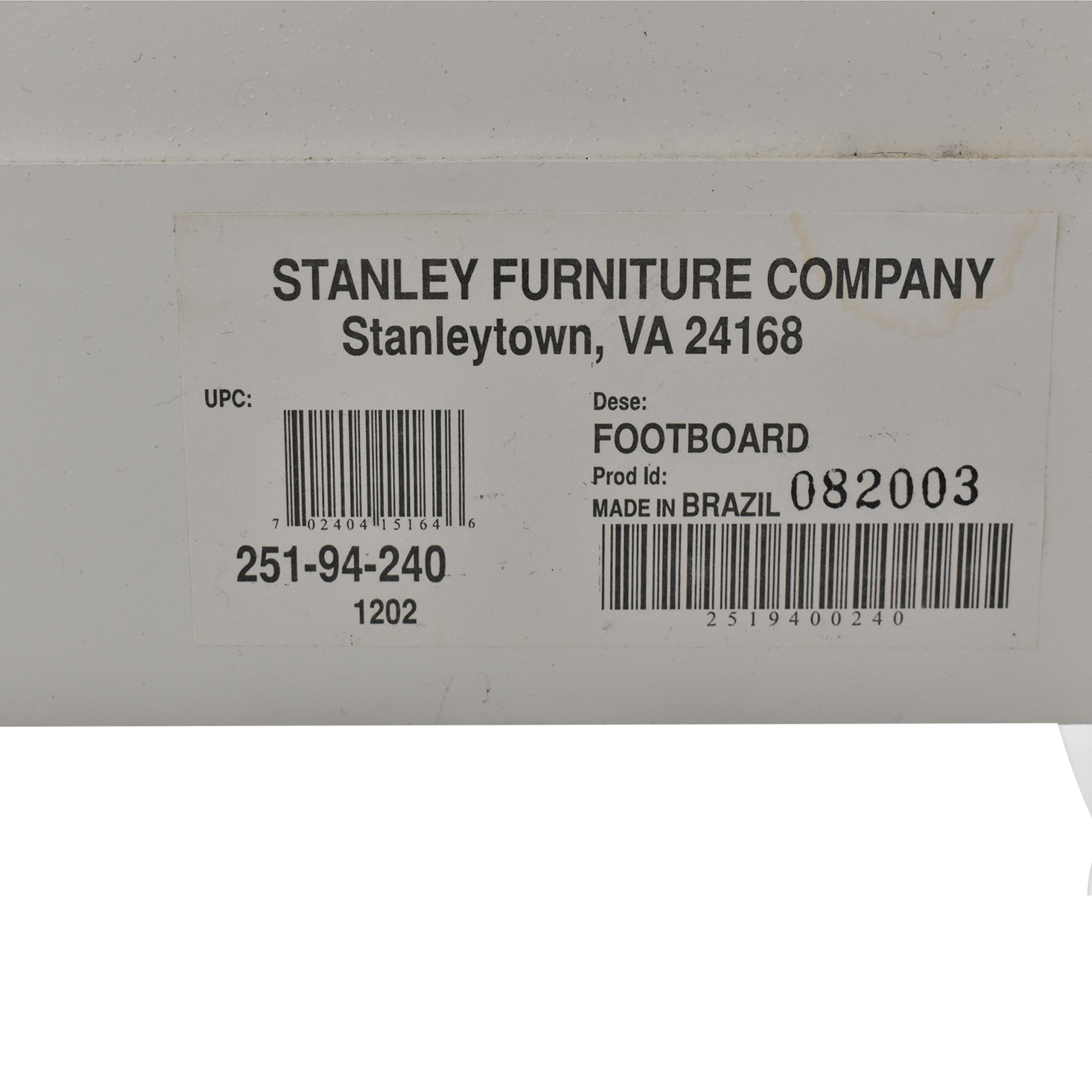 Stanley Furniture Full Bed / Bed Frames