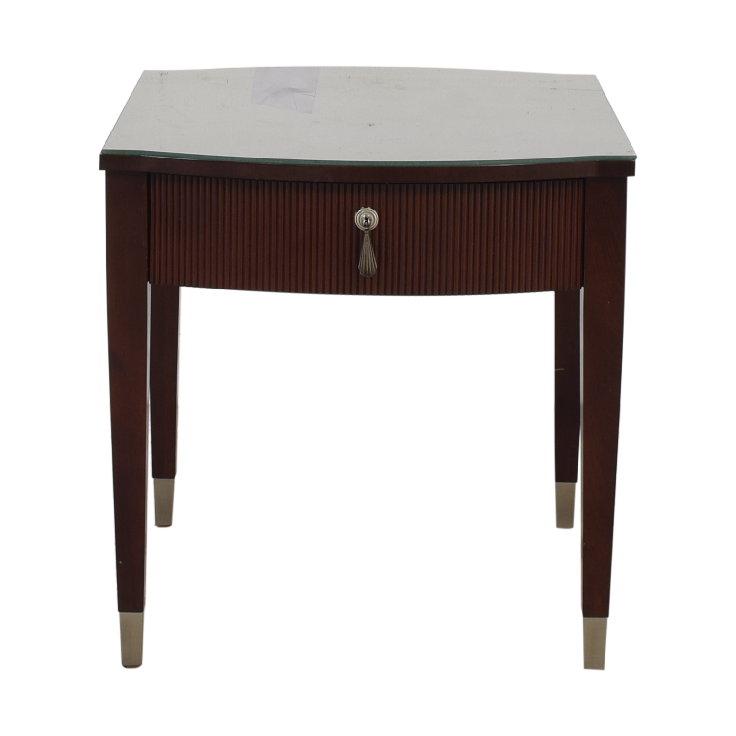 Ethan Allen Ethan Allen Avenue Side Table with Drawer dark brown