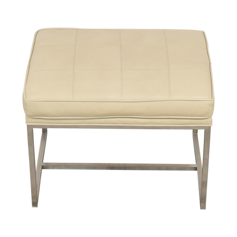 buy Ethan Allen Ethan Allen Matteo Leather Bench online