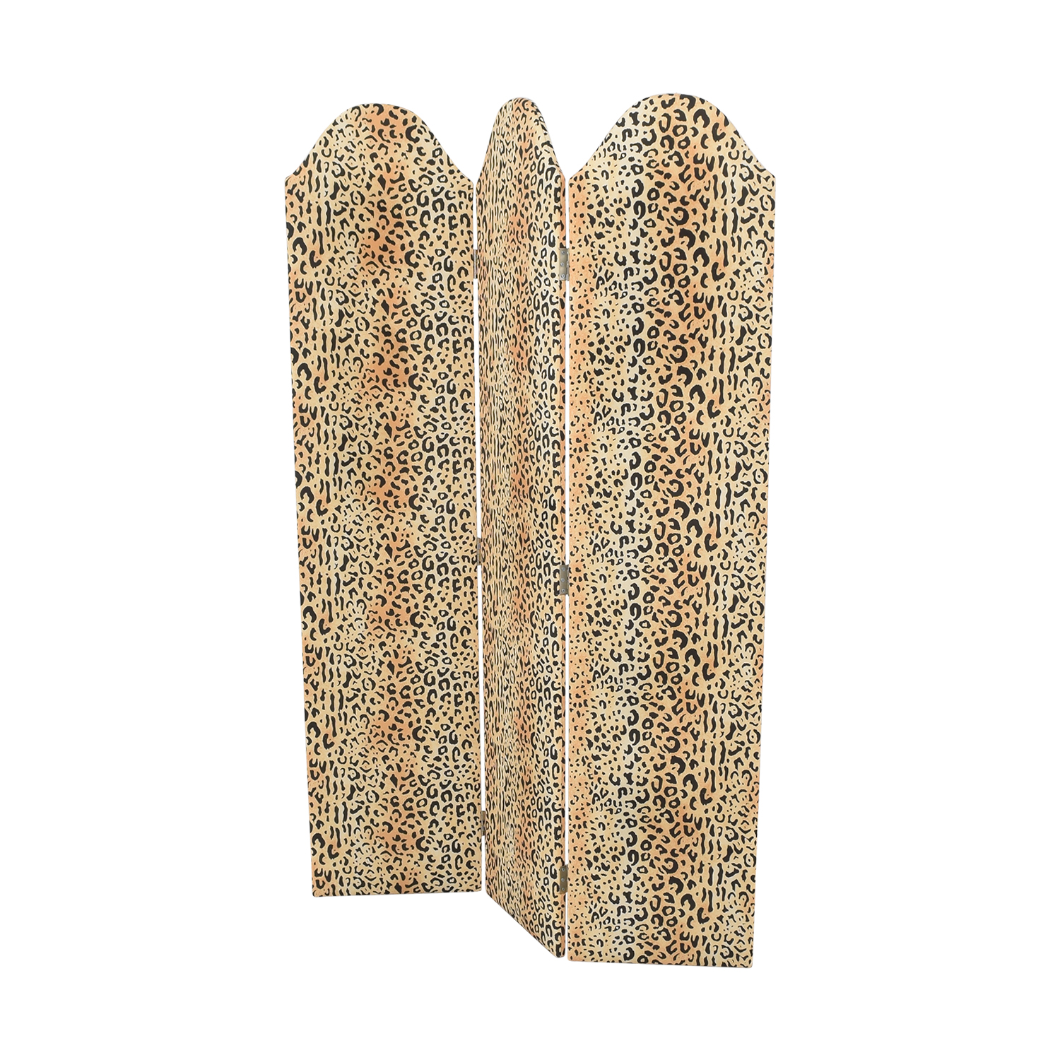 The Inside The Inside Scalloped Screen Leopard Print Divider for sale