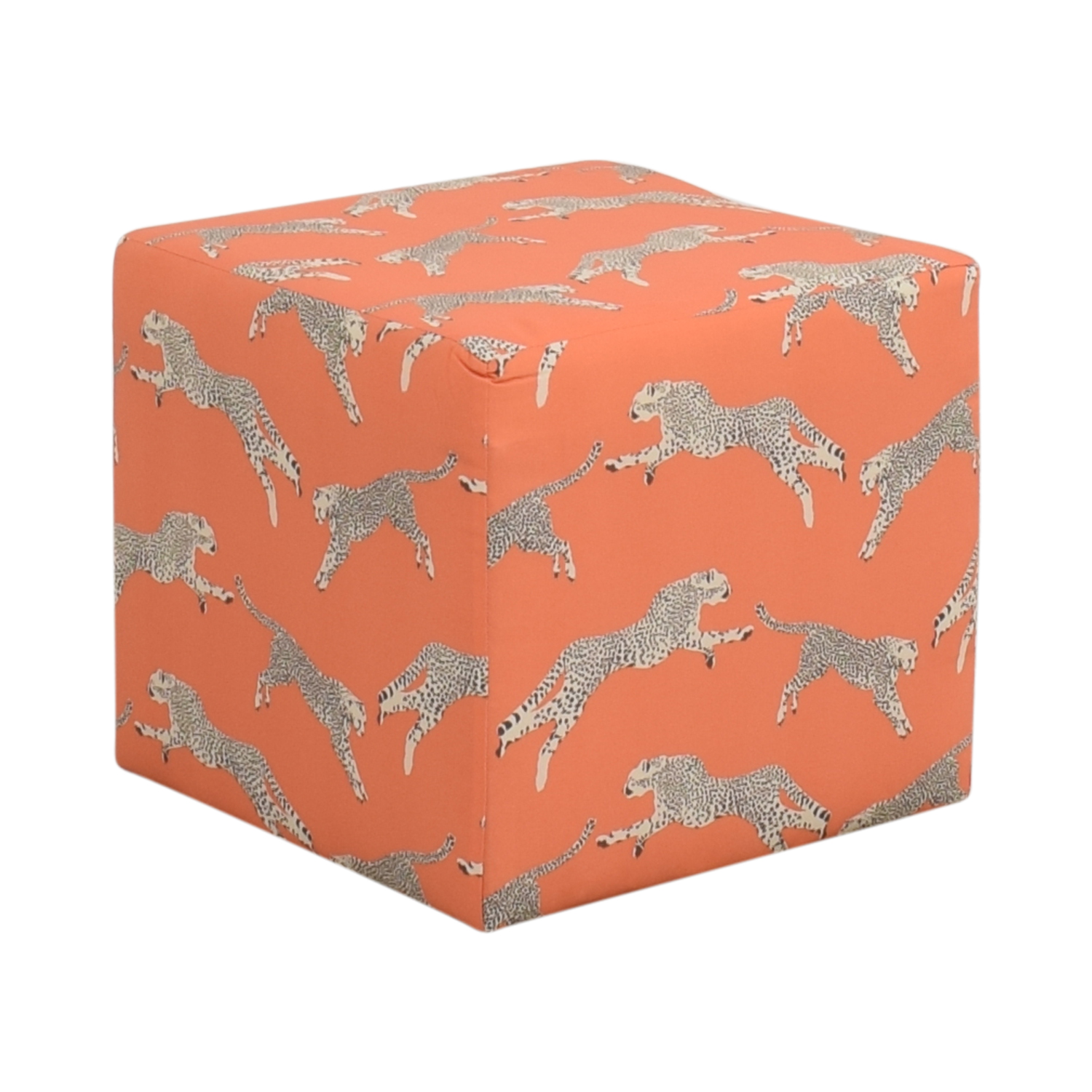 The Inside The Inside Cube Ottoman Henna Cheetah by Scalamandré on sale
