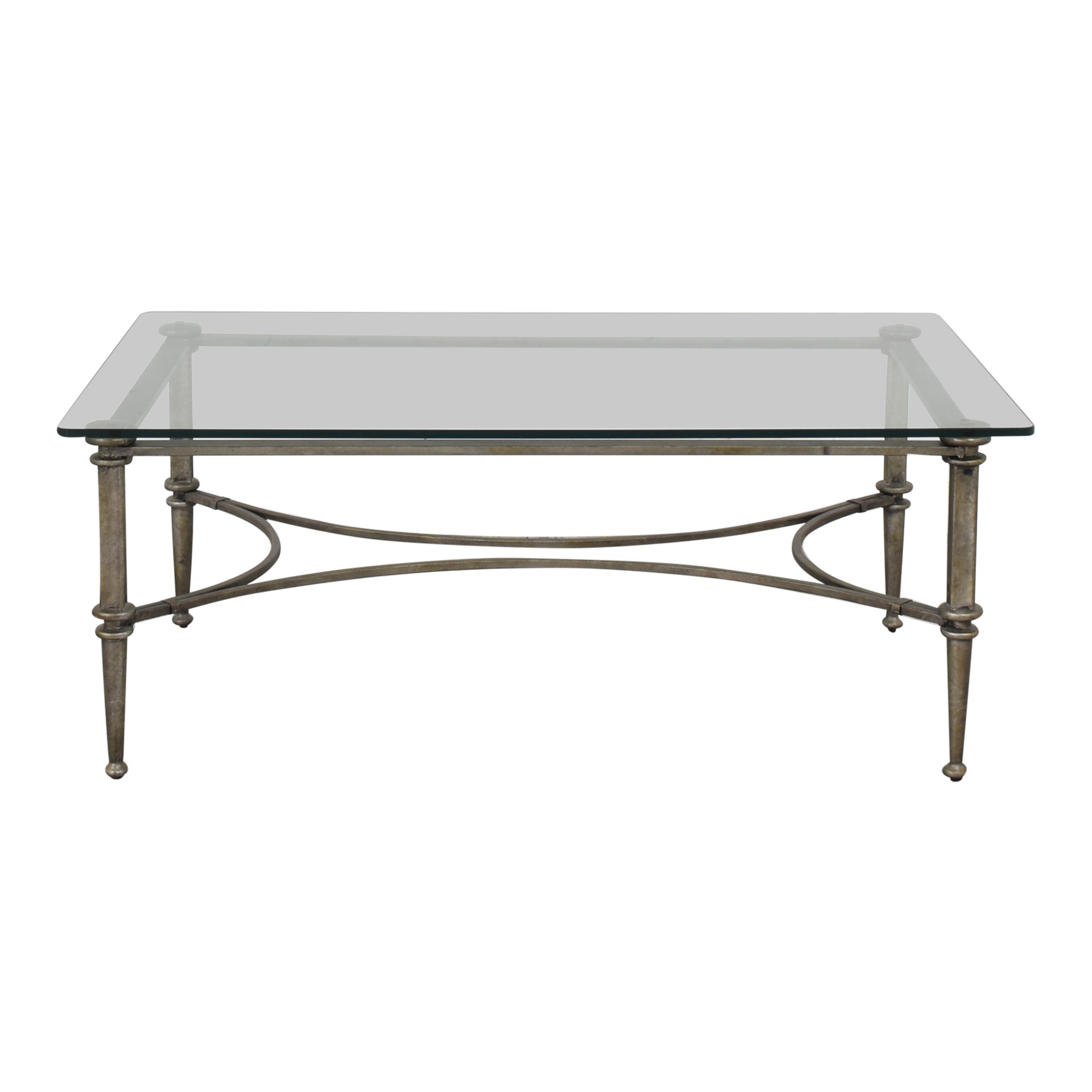Bloomingdale's Glass Coffee Table / Tables