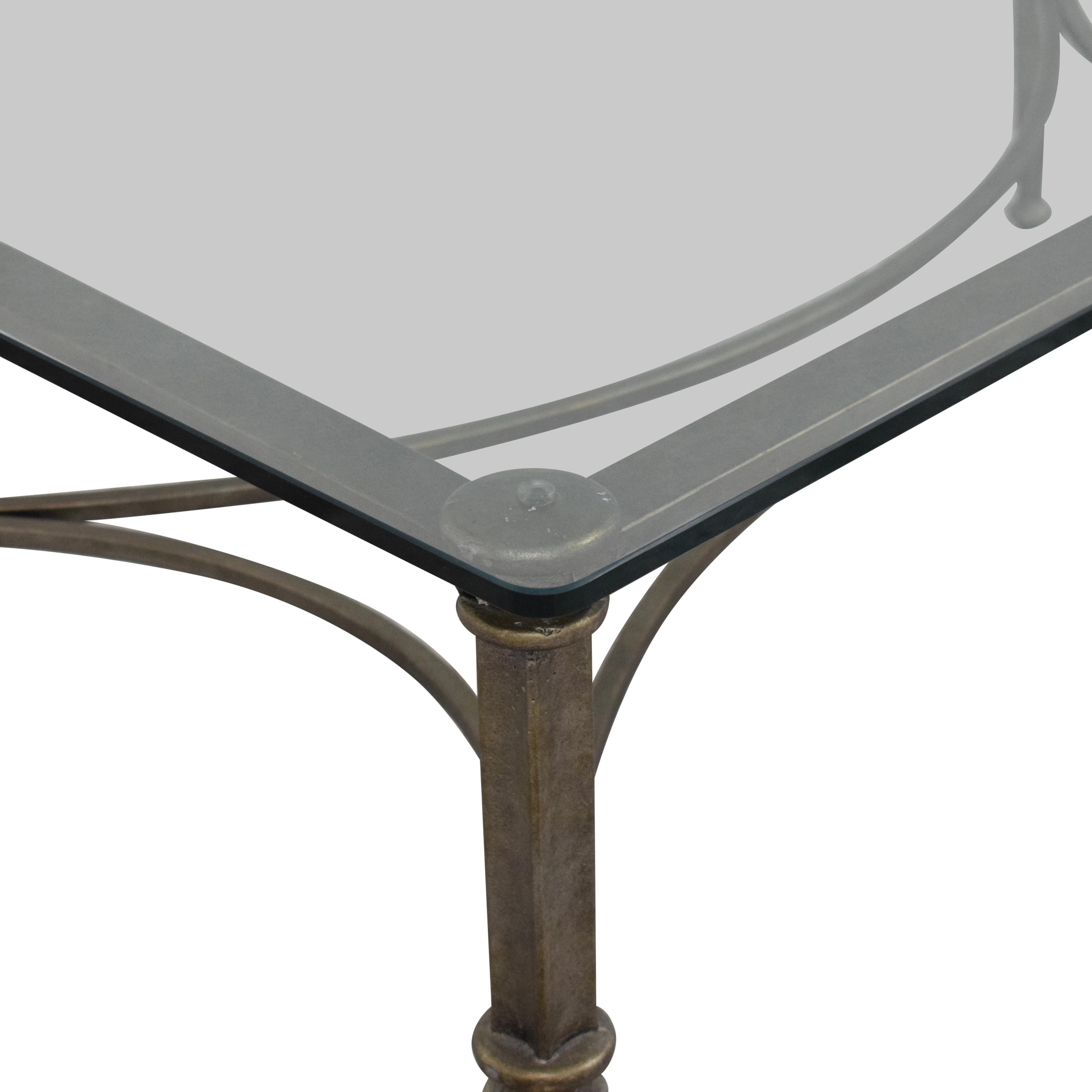 Bloomingdale's Glass Coffee Table Bloomingdale's