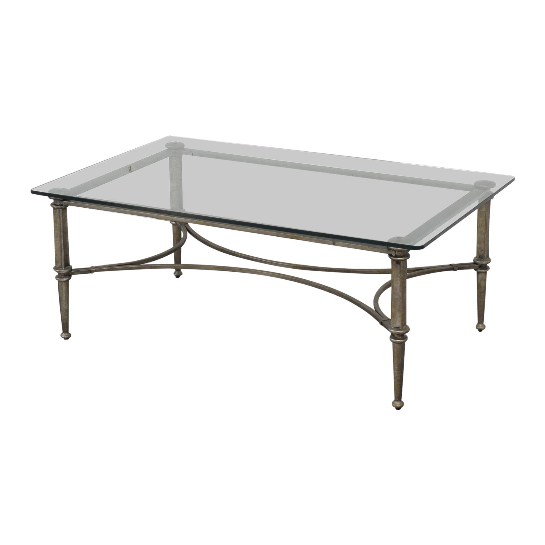 buy Bloomingdale's Glass Coffee Table Bloomingdale's Coffee Tables