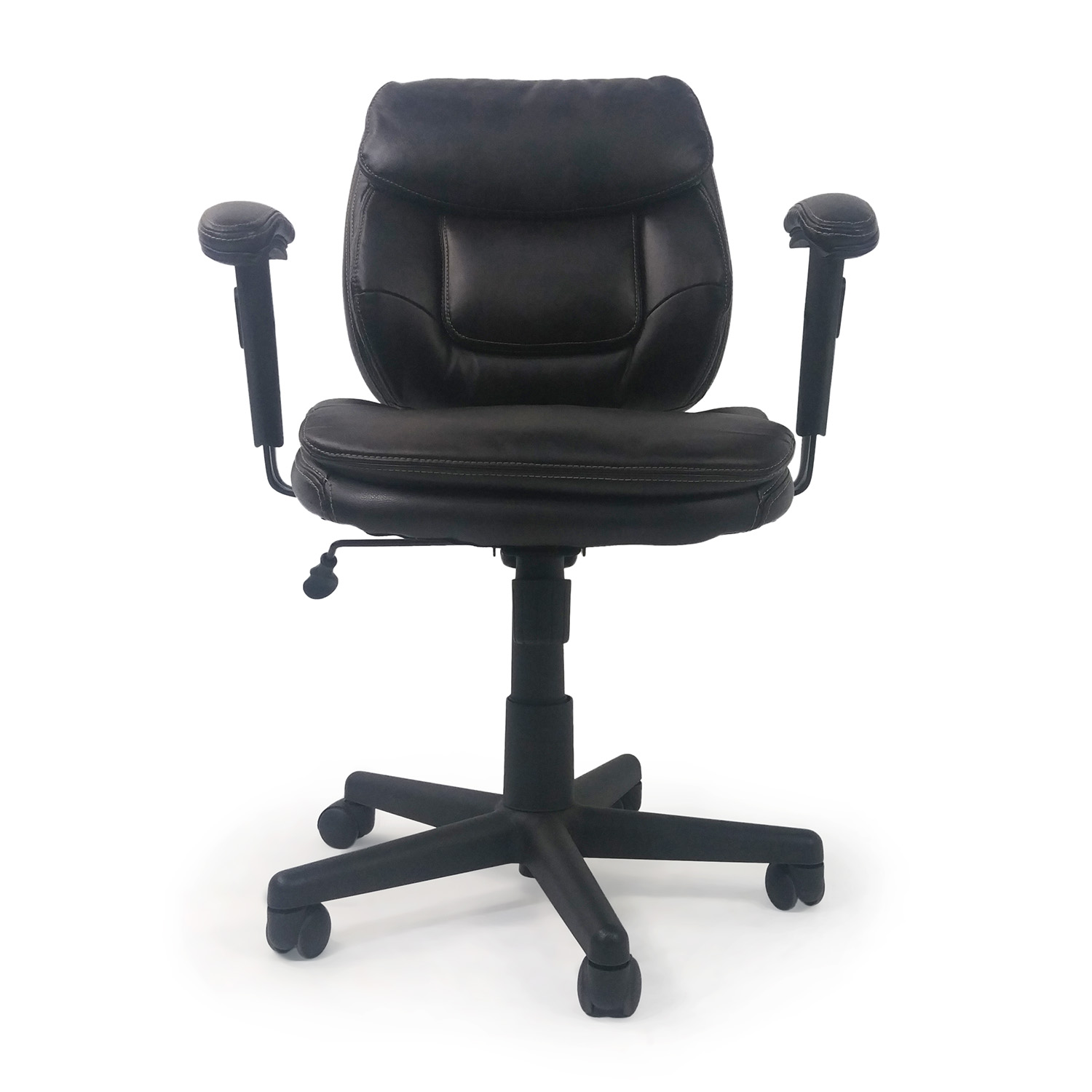 OFF Urth Urth Cava Black Leather Chairs Chairs - Ergonomic office chair uk