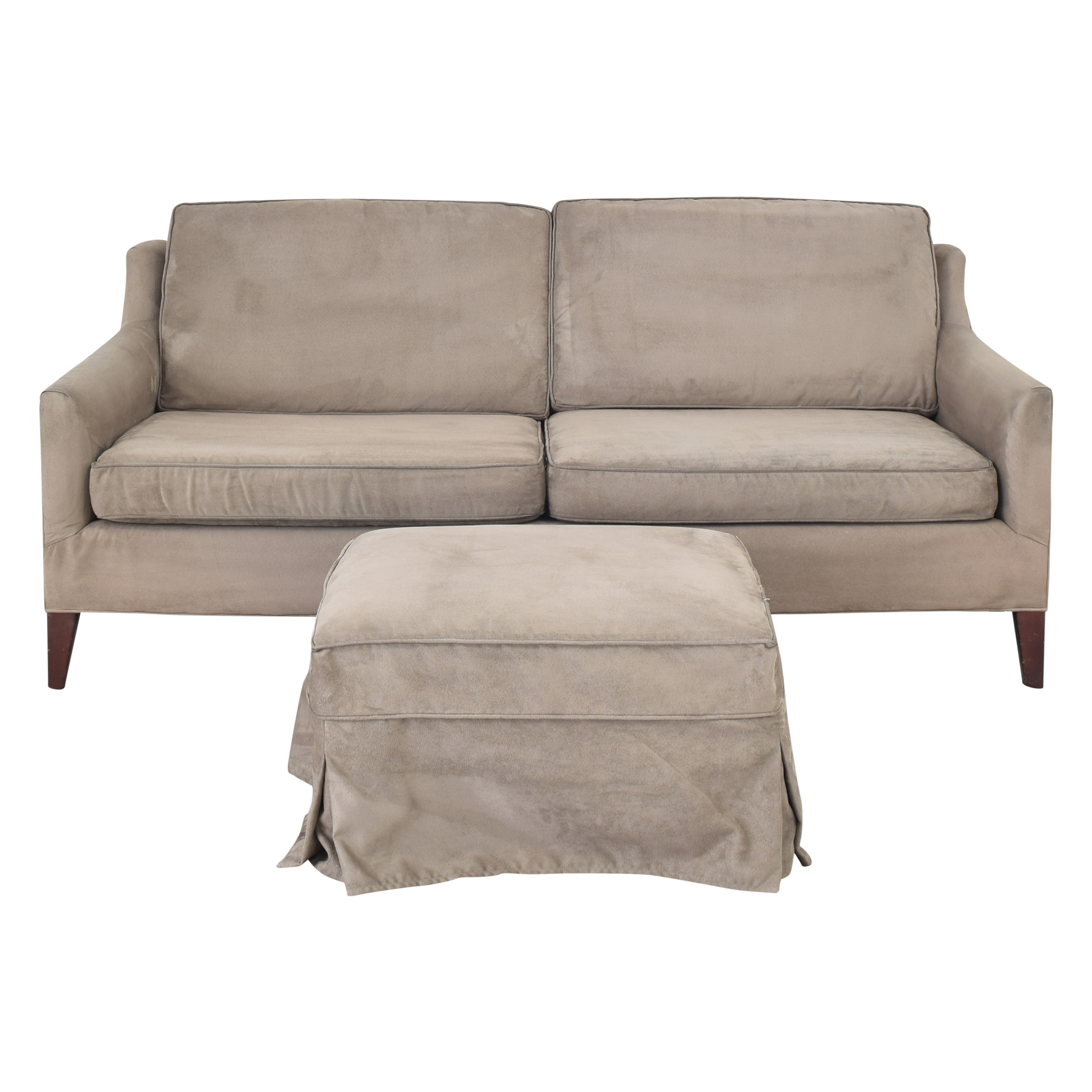 Mitchell Gold + Bob Williams Mitchell Gold + Bob Williams Taylor Apartment Sofa with Ottoman second hand