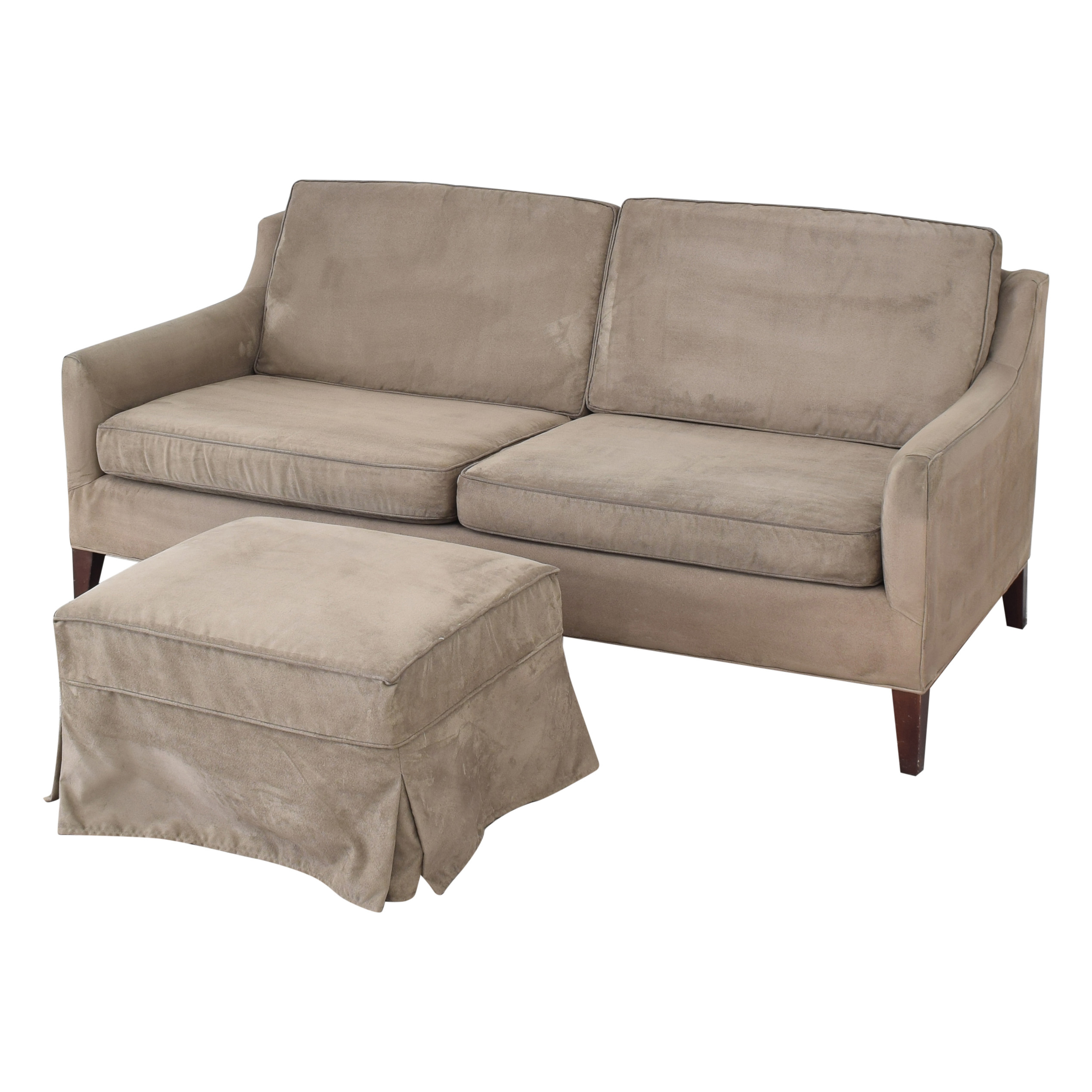 Mitchell Gold + Bob Williams Mitchell Gold + Bob Williams Taylor Apartment Sofa with Ottoman dimensions