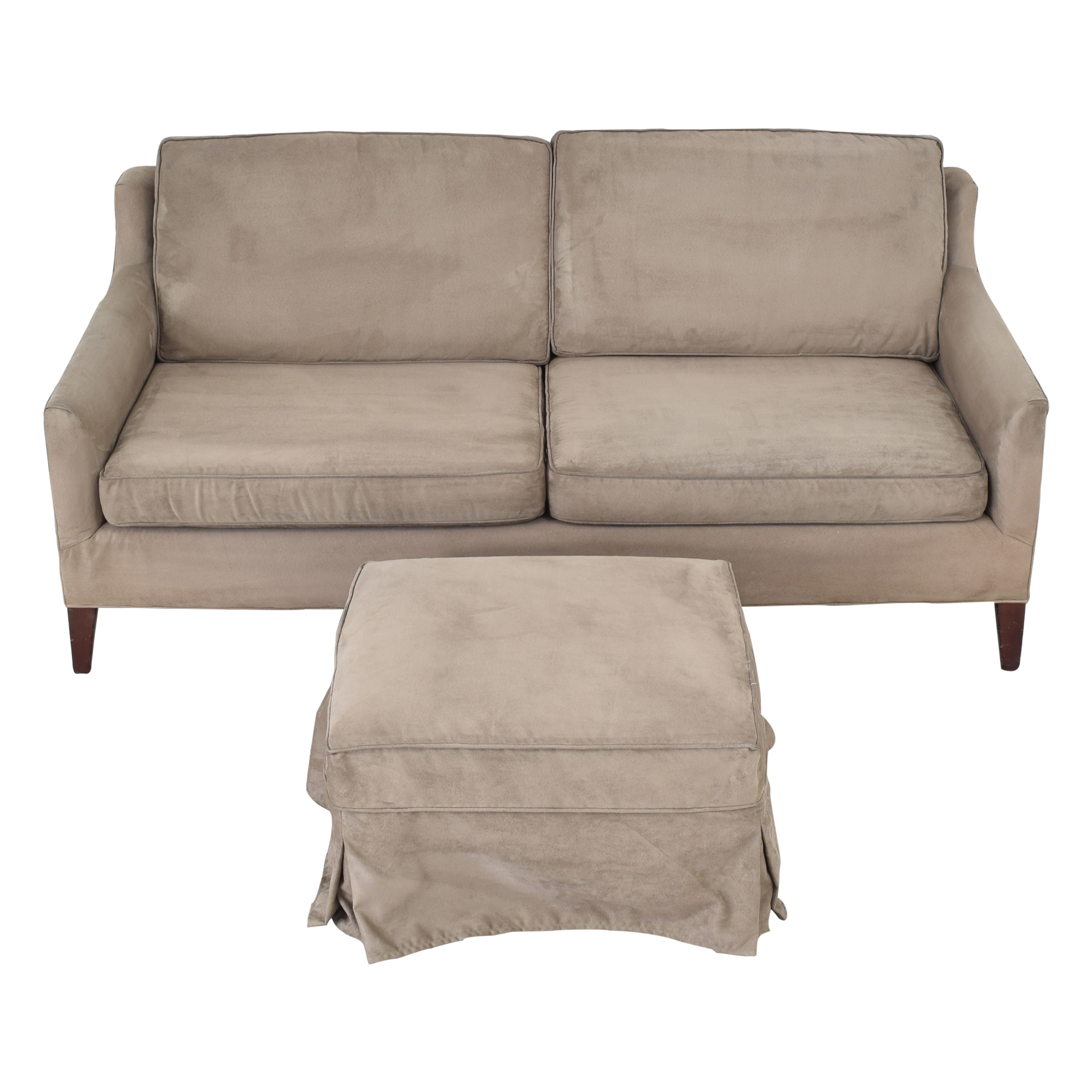 Mitchell Gold + Bob Williams Mitchell Gold + Bob Williams Taylor Apartment Sofa with Ottoman ct