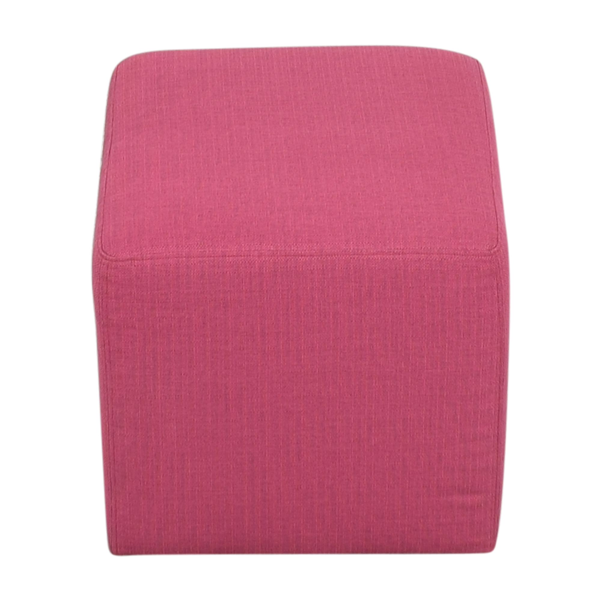 ABC Carpet & Home Square Upholstered Ottoman pink