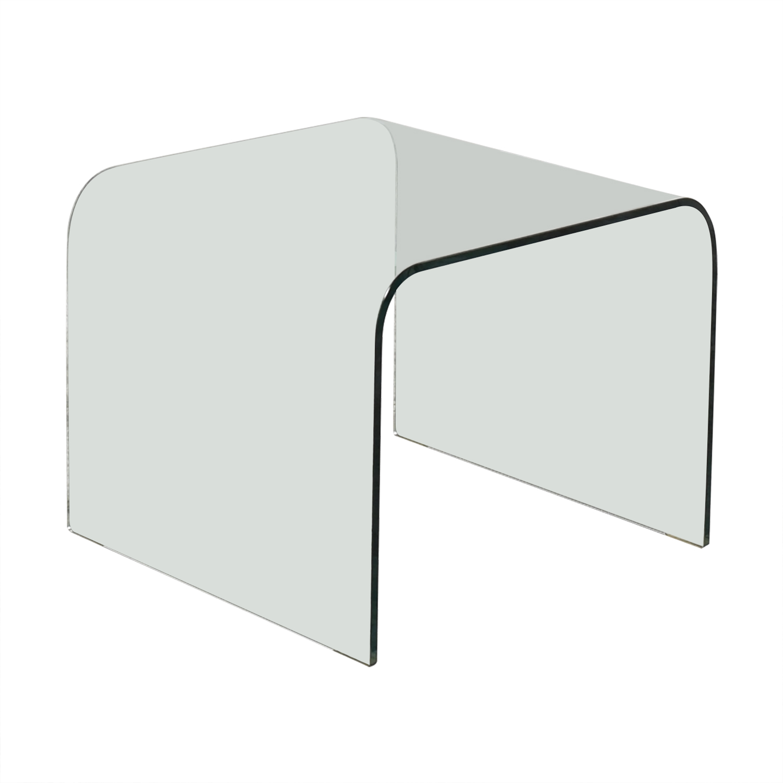 buy NCA Design NCA Design Bent Glass Side Table online