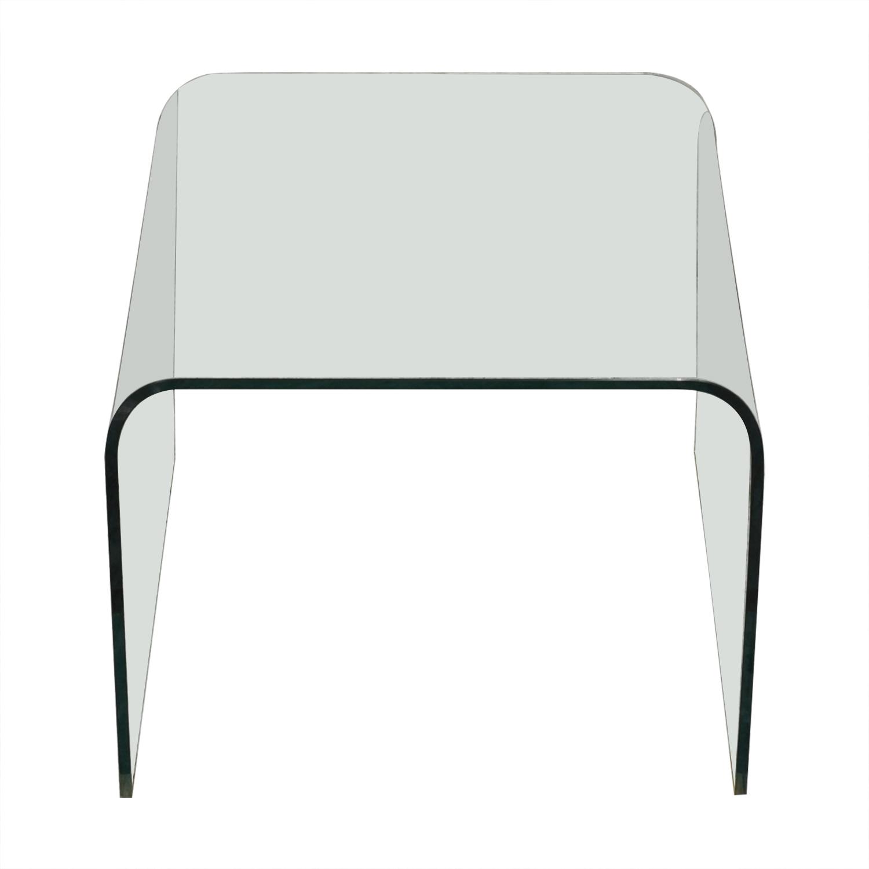 NCA Design Bent Glass Side Table NCA Design