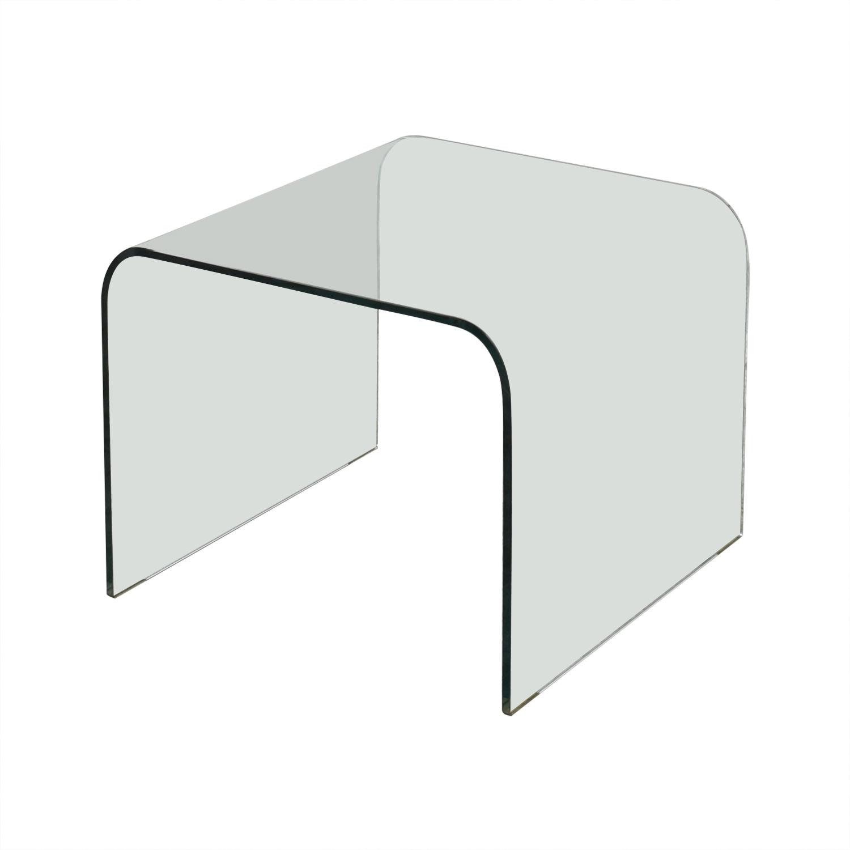 NCA Design NCA Design Bent Glass Side Table Tables