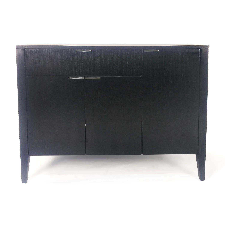 shop Crate and Barrel Black Wood TV Stand online