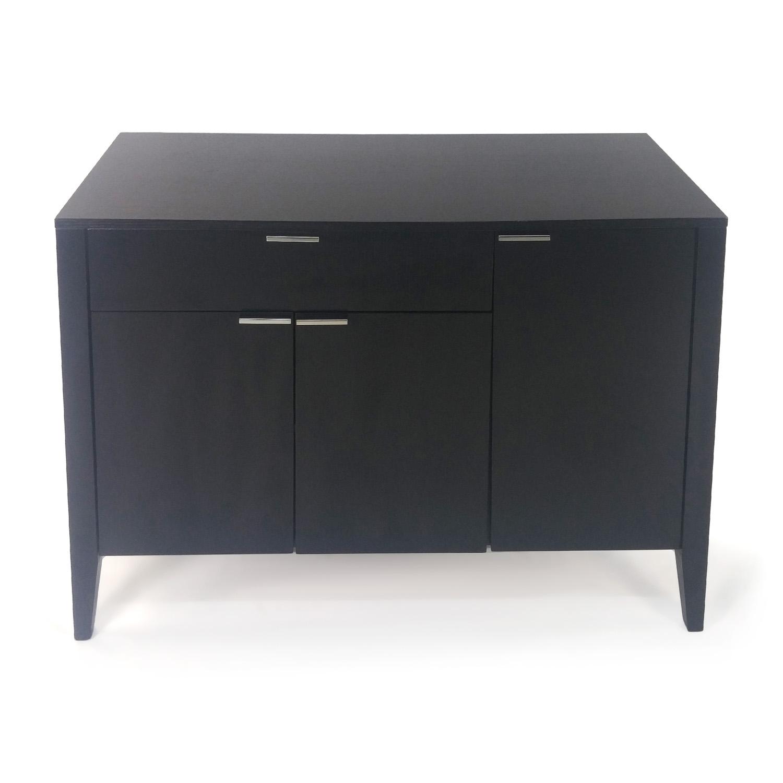 buy Black Wood TV Stand Crate and Barrel Media Units