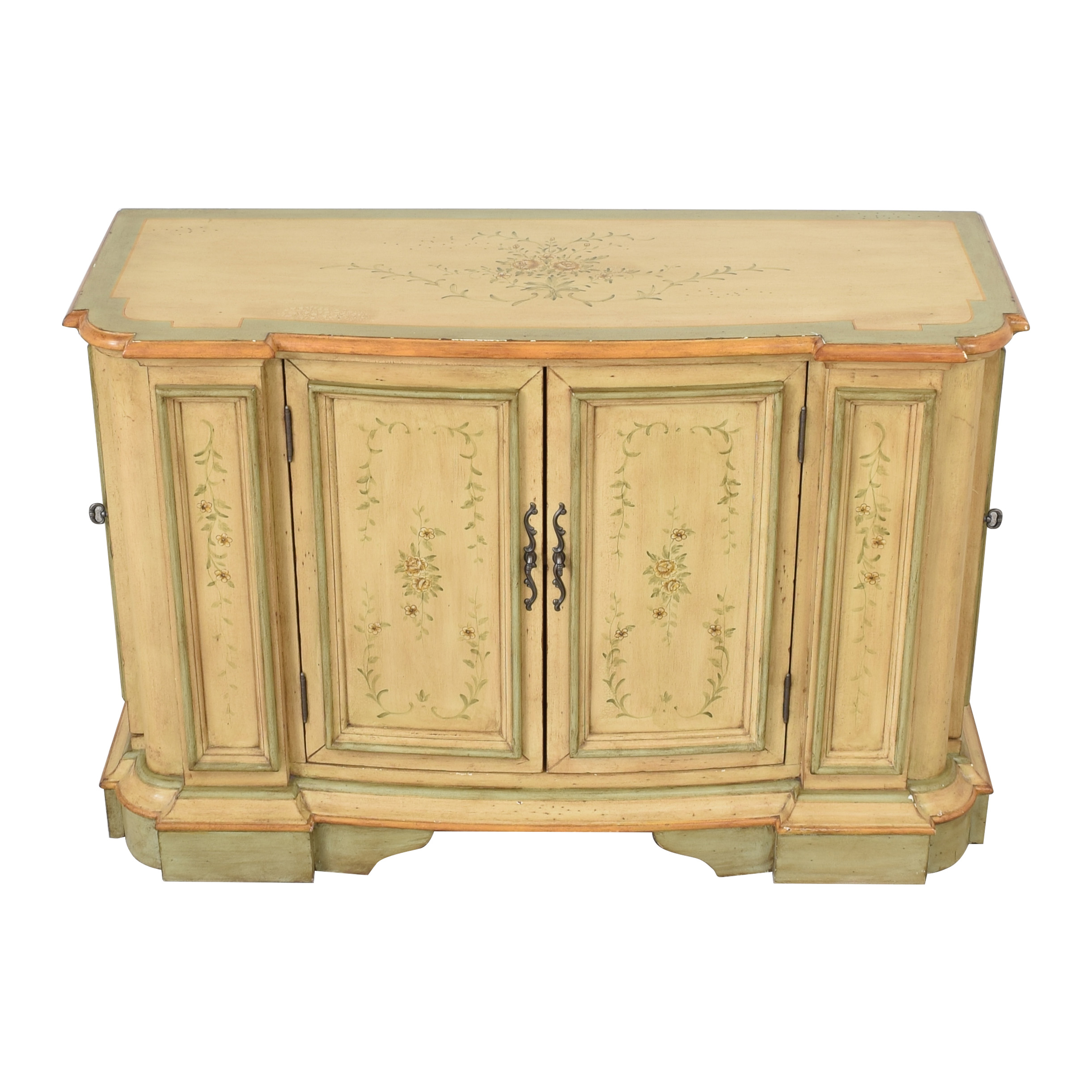 buy Powell English Garden Console Cabinet Powell Storage