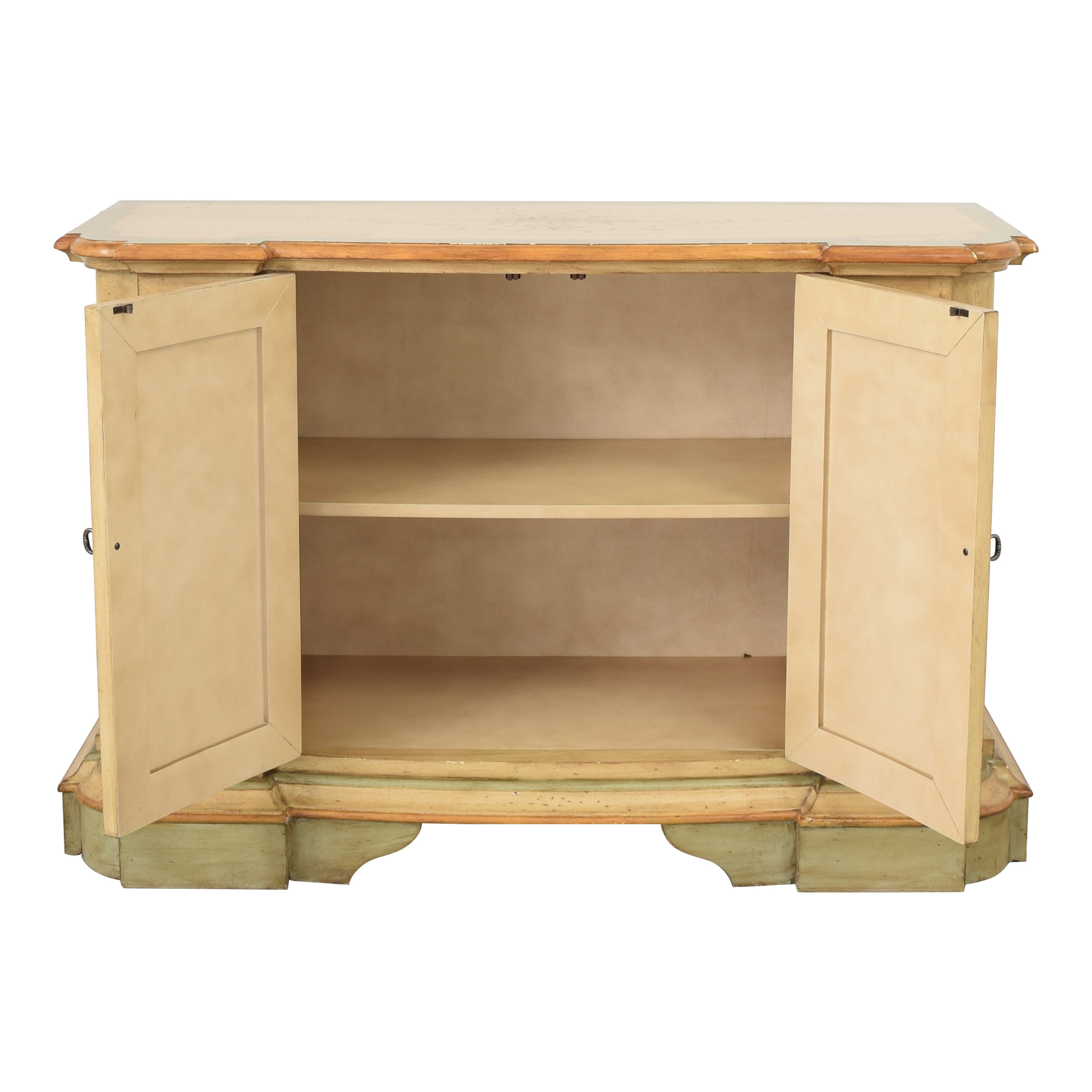 shop Powell English Garden Console Cabinet Powell