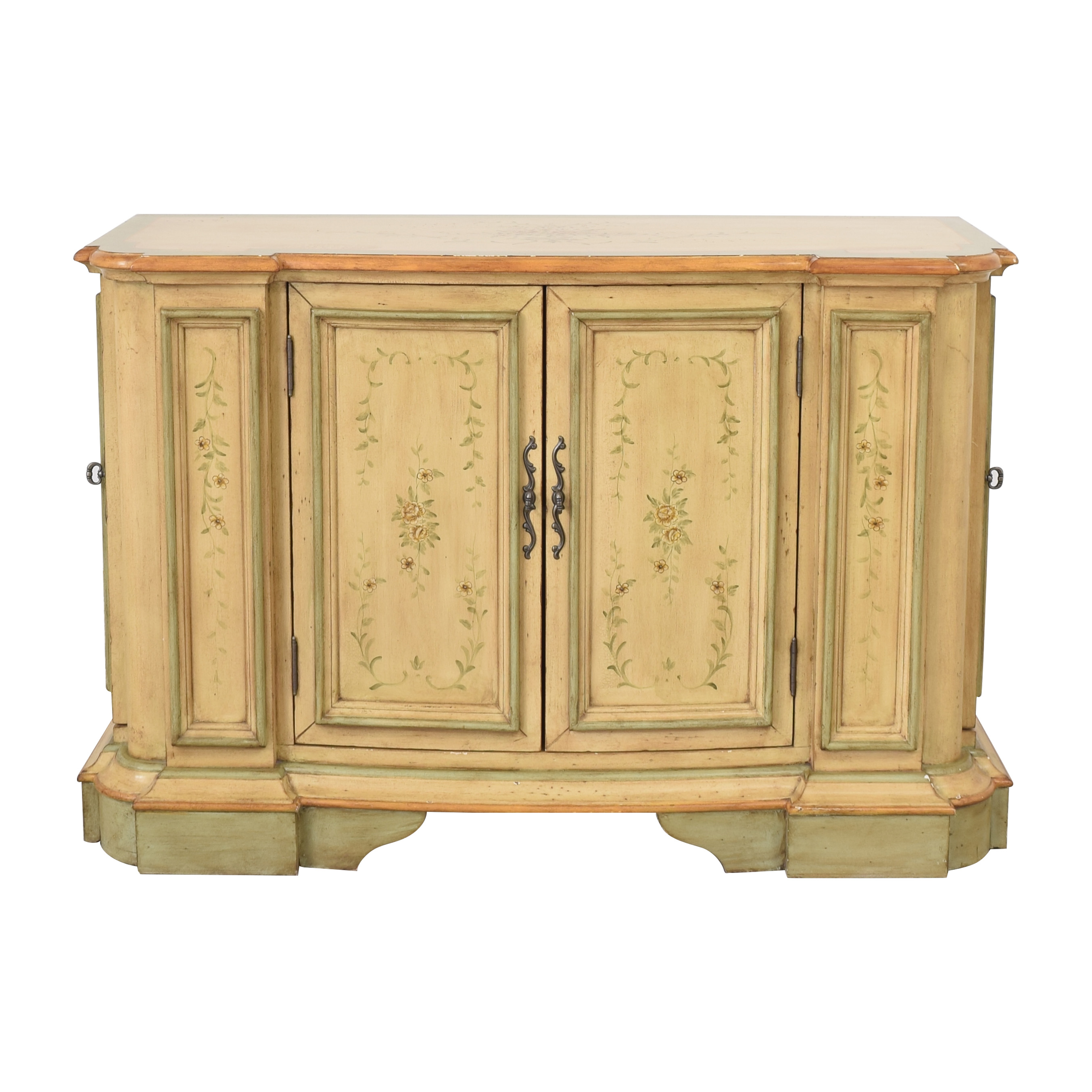 Powell English Garden Console Cabinet / Storage