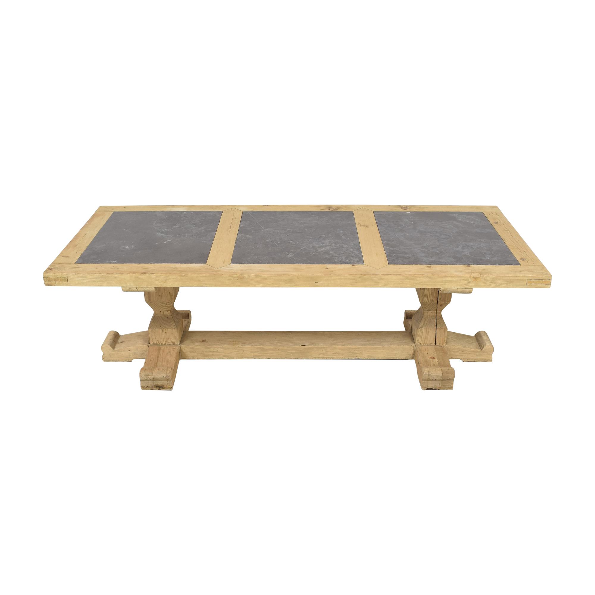 Restoration Hardware Restoration Hardware 18th C. Reclaimed Pine & Bluestone Rectangular Dining Table Tables