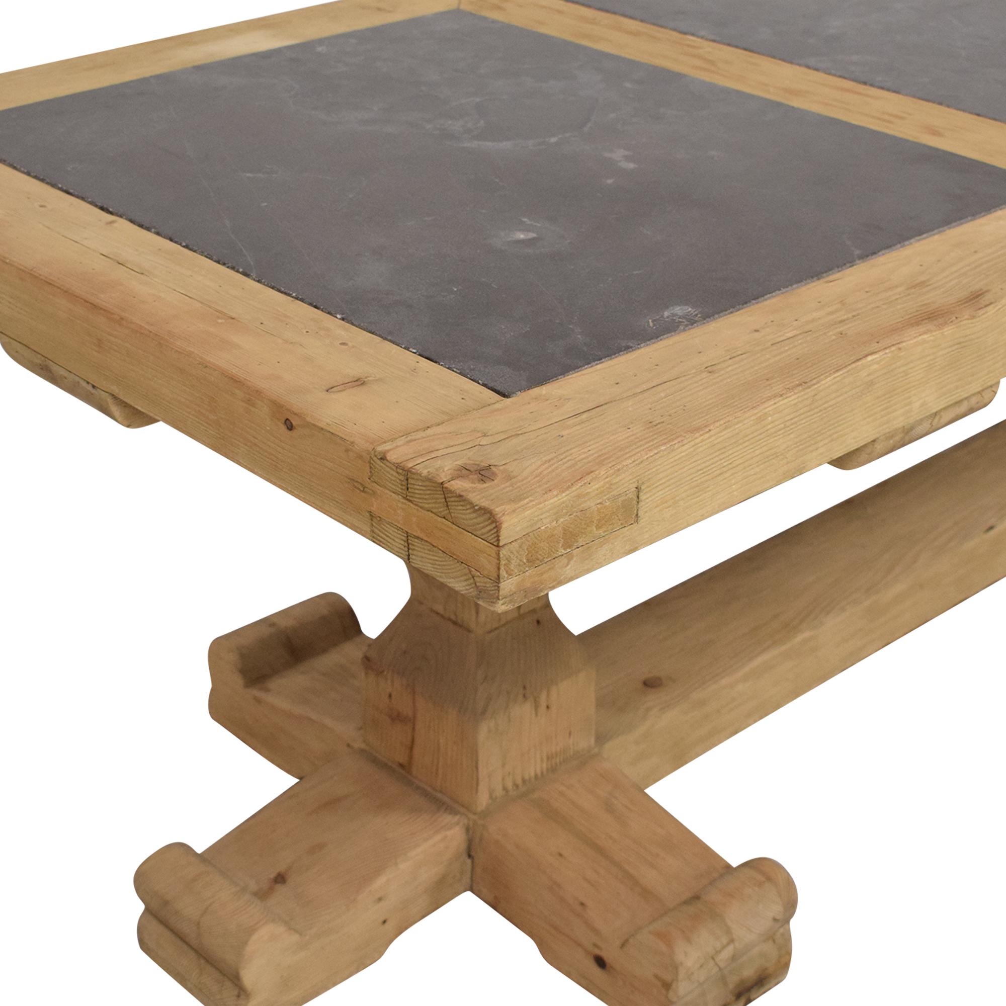 buy Restoration Hardware 18th C. Reclaimed Pine & Bluestone Rectangular Dining Table Restoration Hardware Dinner Tables