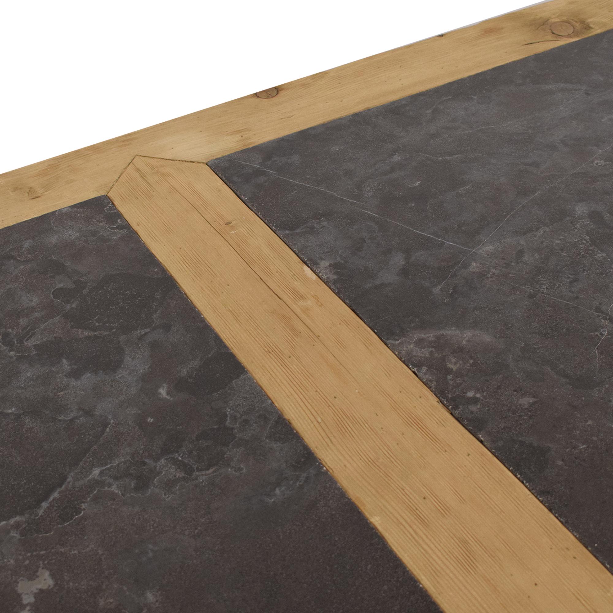 Restoration Hardware Restoration Hardware 18th C. Reclaimed Pine & Bluestone Rectangular Dining Table discount