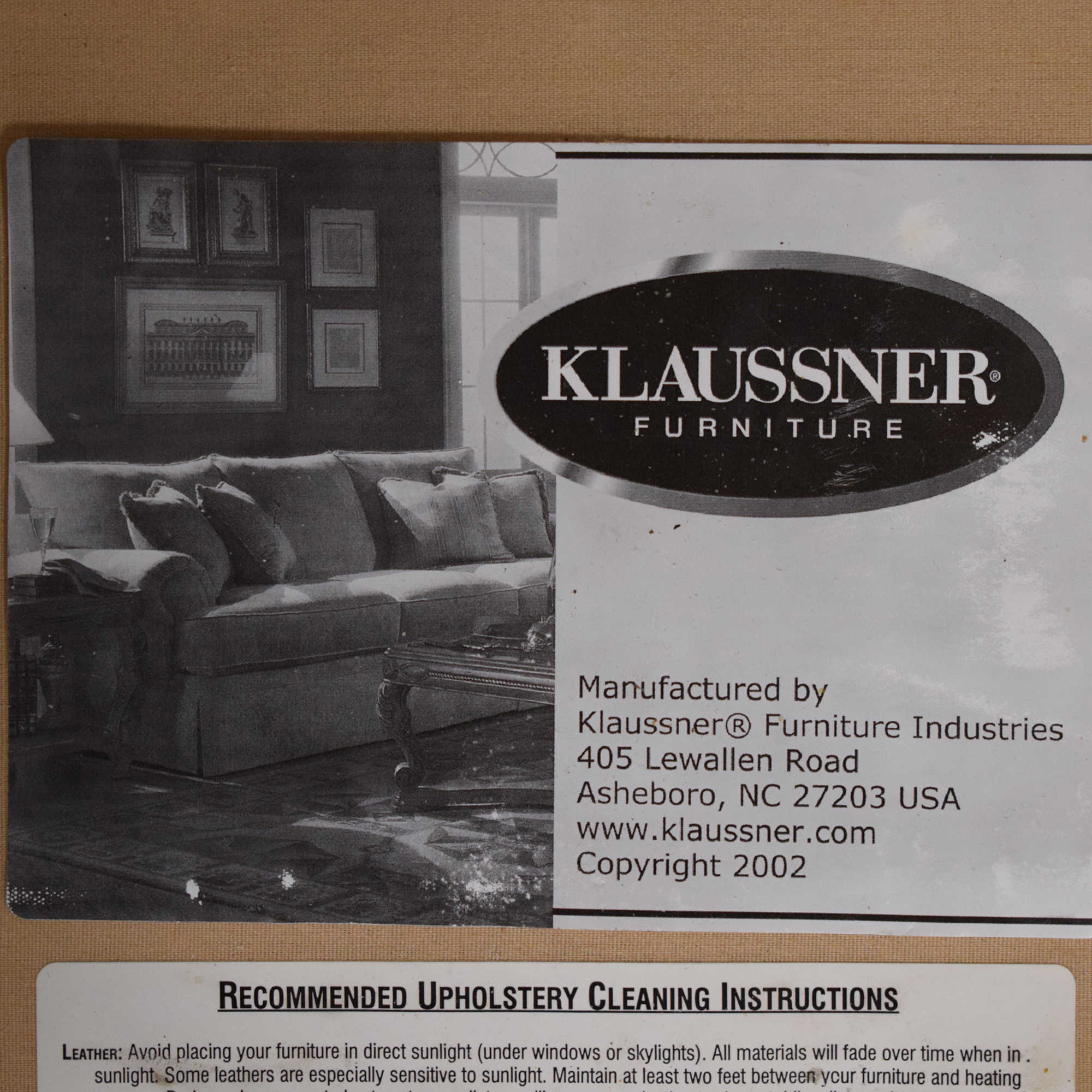 Klaussner Klaussner Upholstered Loveseat price