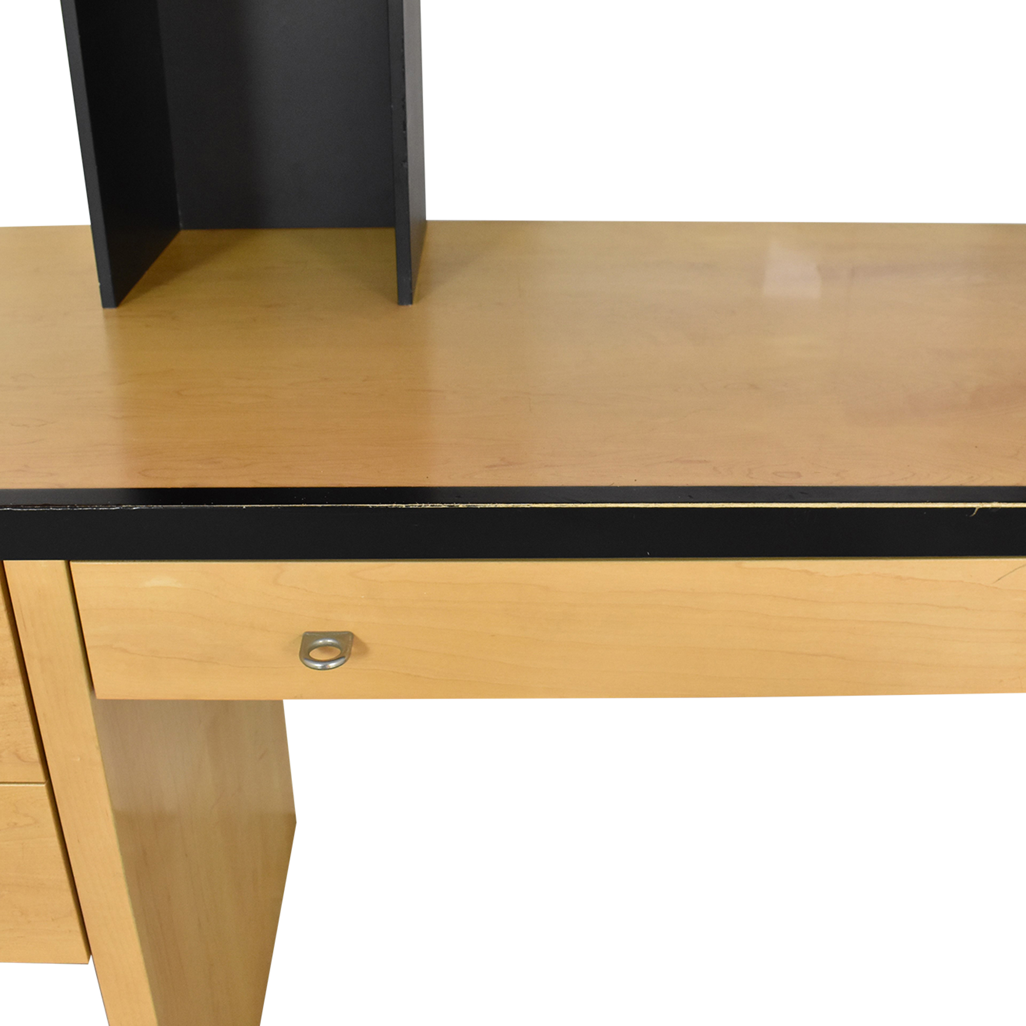 Vintage Mid Century Modular Wall Desk with Sliding Shelves discount