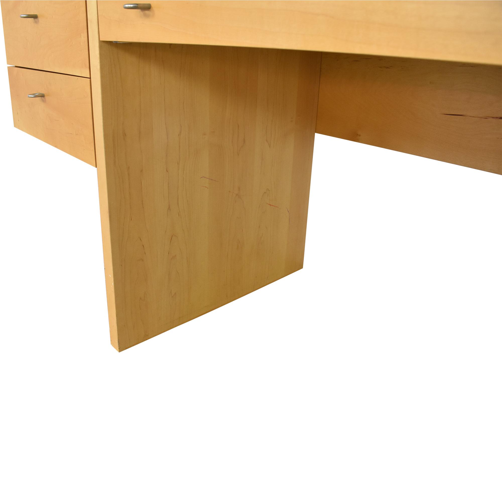 shop Vintage Mid Century Modular Wall Desk with Sliding Shelves  Tables