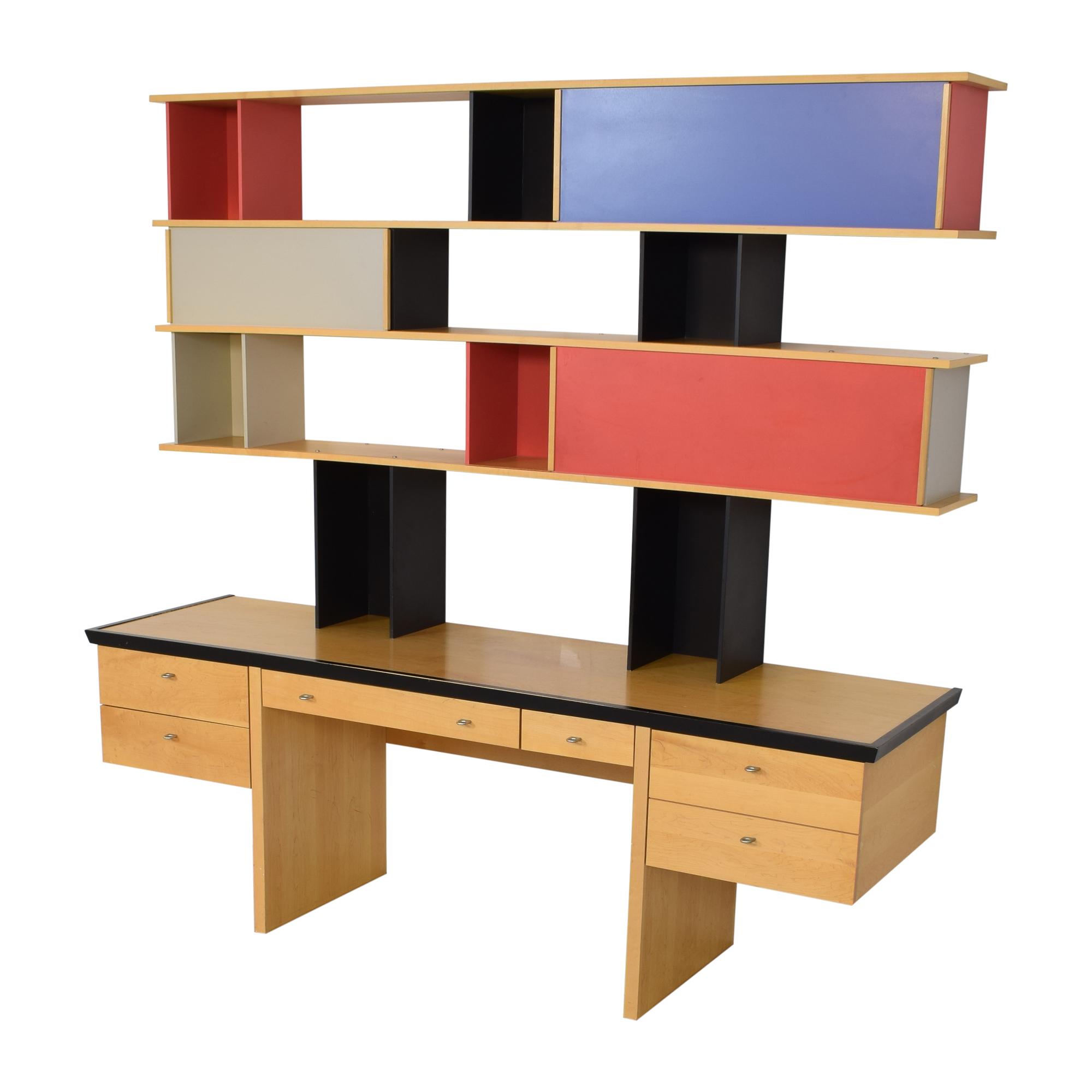 Vintage Mid Century Modular Wall Desk with Sliding Shelves price