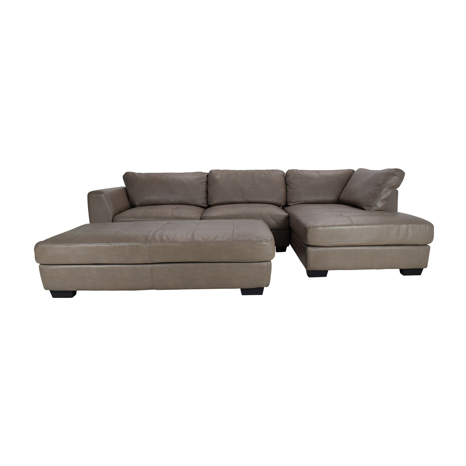 Luttrell Leather Sectional with Ottoman / Sofas