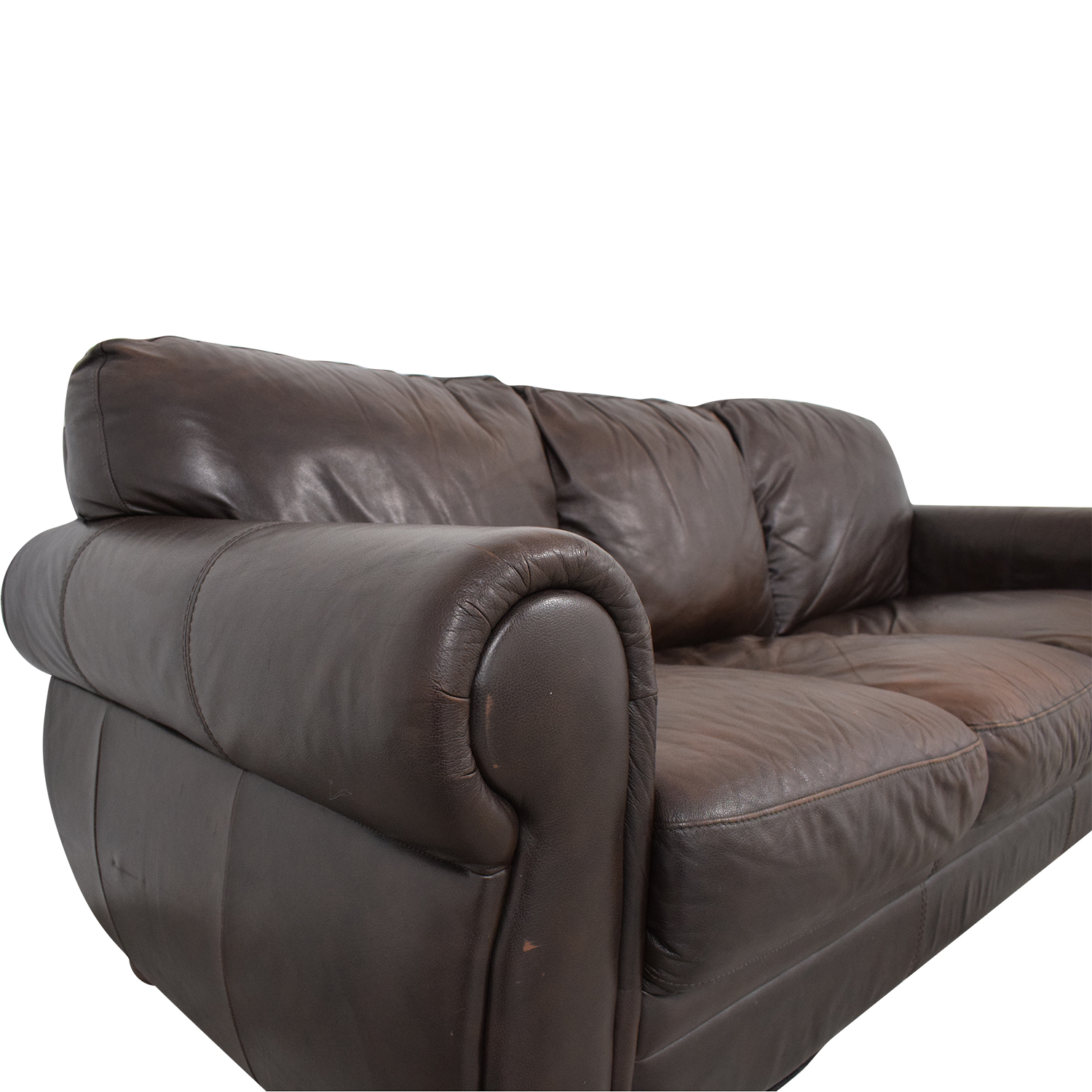 buy Chateau D'ax Marsala Leather Sofa Chateau d'Ax Sofas