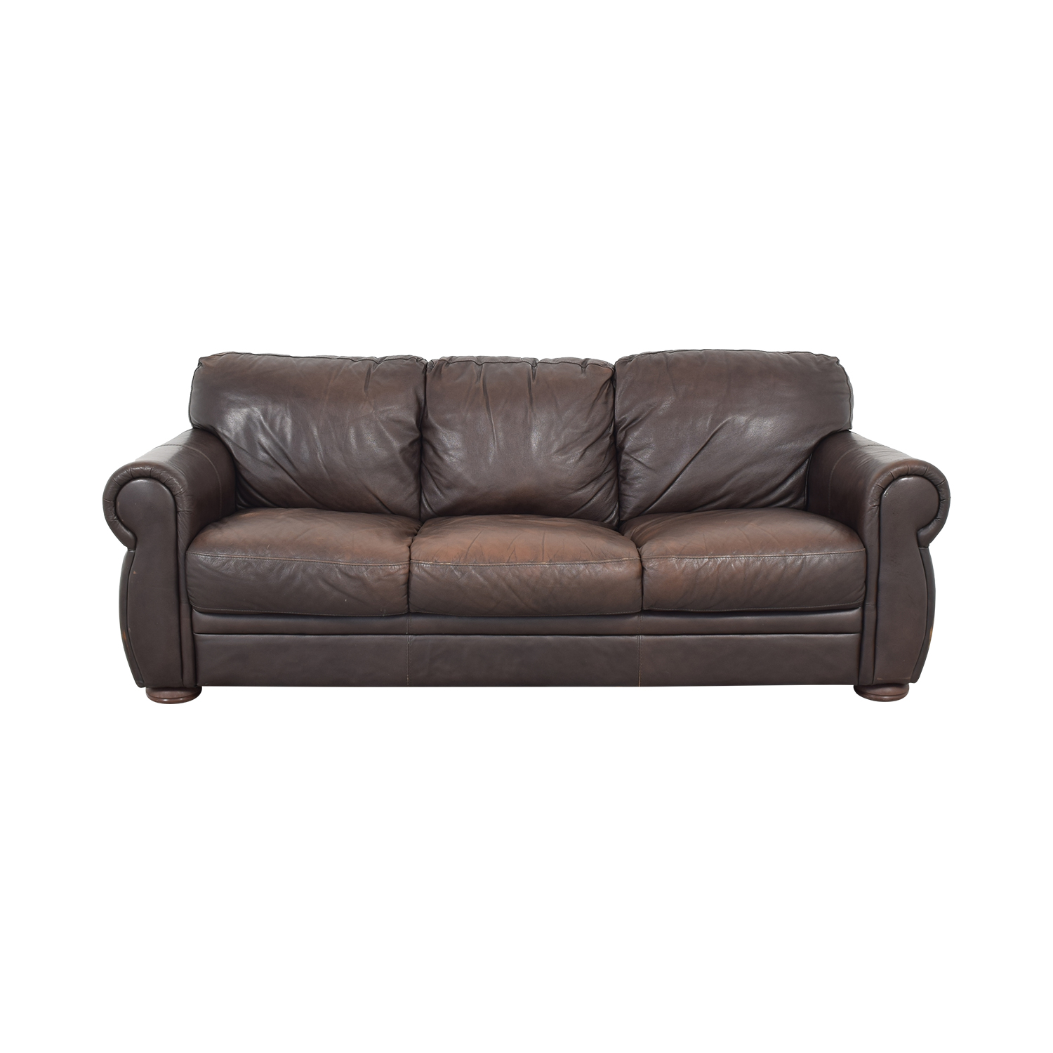 shop Chateau D'ax Marsala Leather Sofa Chateau d'Ax Classic Sofas