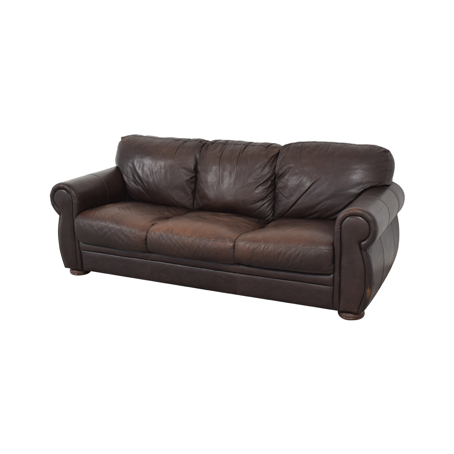 Chateau D'ax Marsala Leather Sofa / Sofas