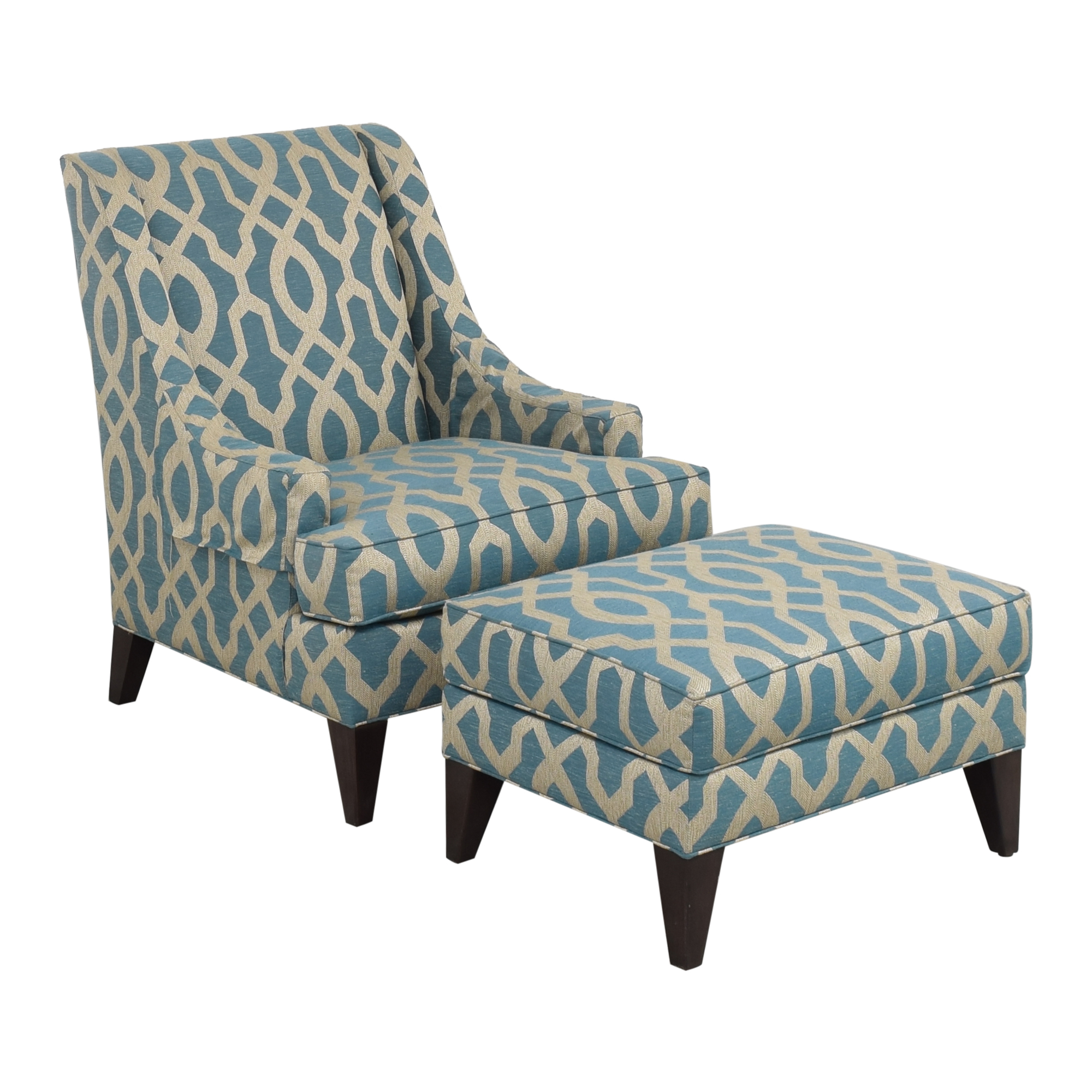 buy Ethan Allen Emerson Chair and Ottoman Ethan Allen Accent Chairs